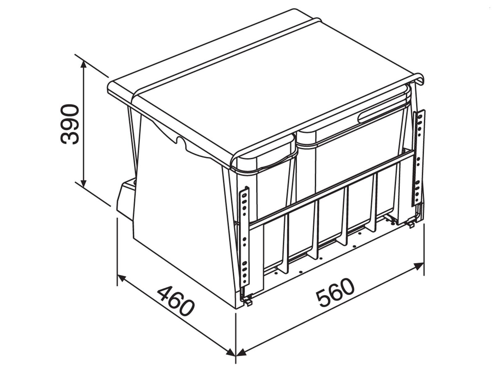 Franke Sorter 700-60 KickMatic - 121.0173.362 Einbau Abfallsammler