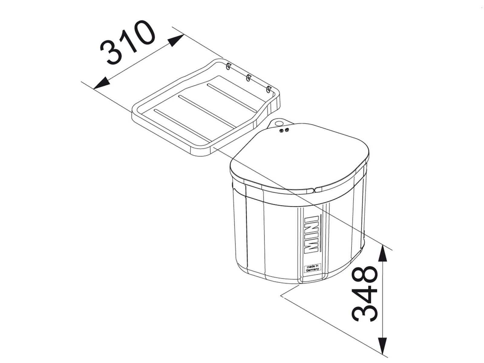 Franke Sorter Mini - 121.0176.518 Einbau Abfallsammler