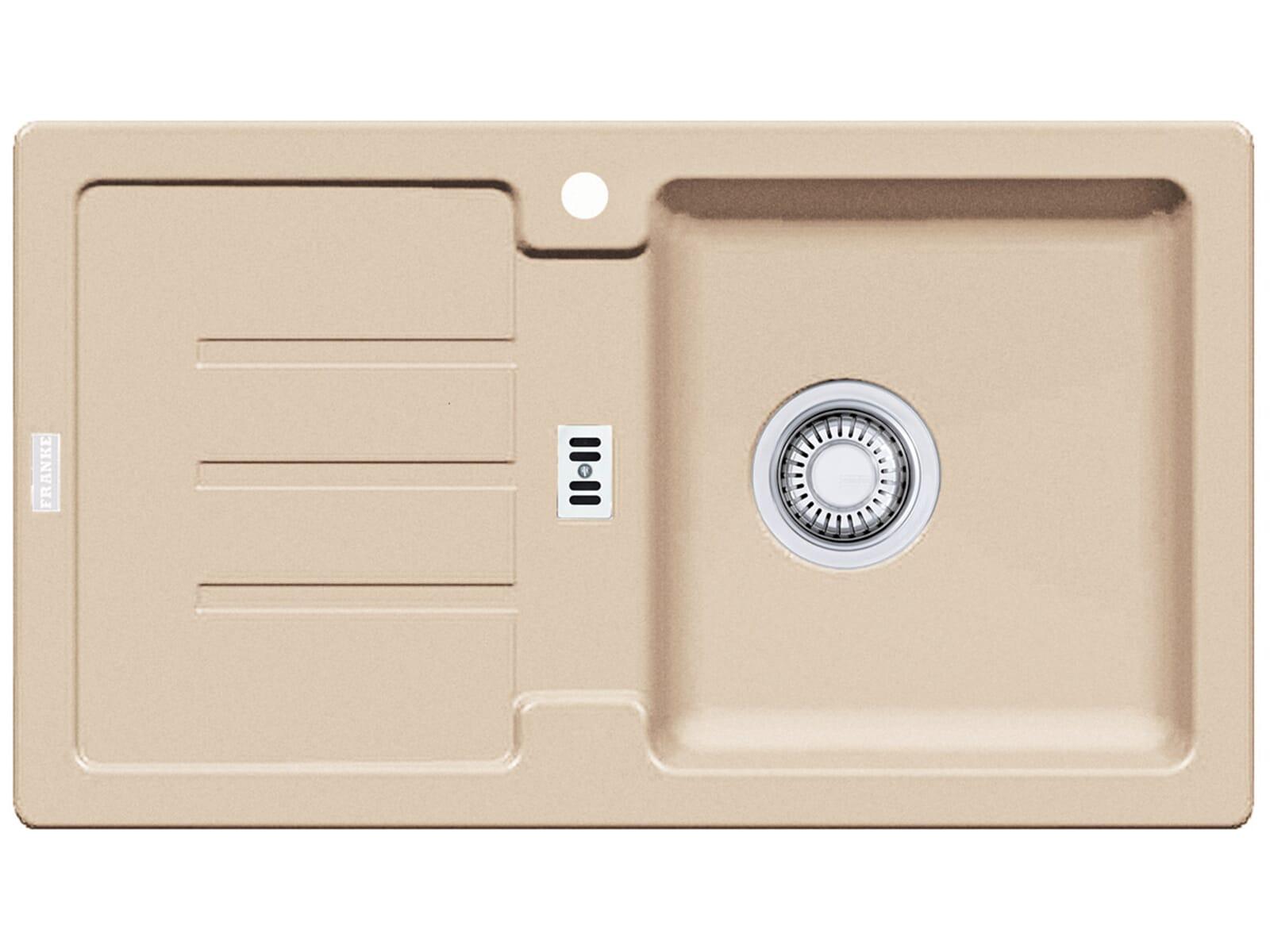 franke strata stg 614 78 beige granitsp le stopfenventil. Black Bedroom Furniture Sets. Home Design Ideas