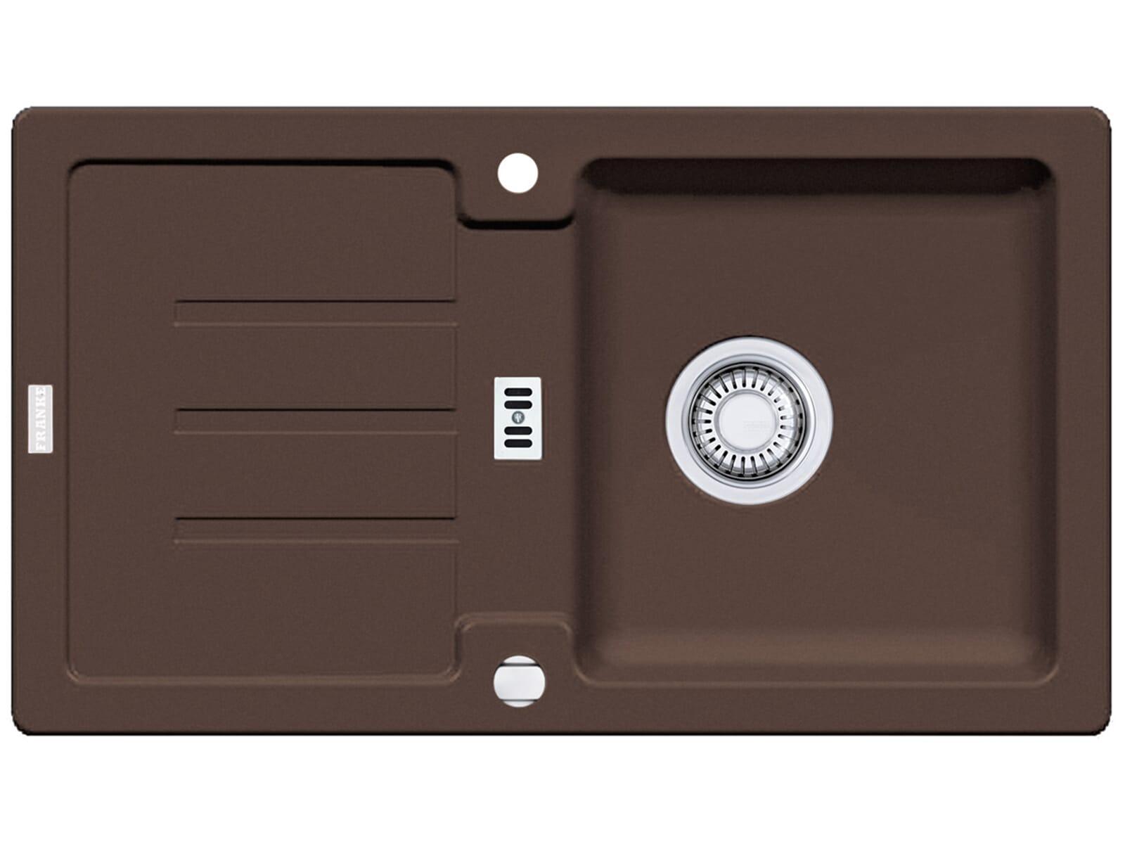 Draufsicht von Franke Strata STG 614-78 Chocolate Granit-Spüle