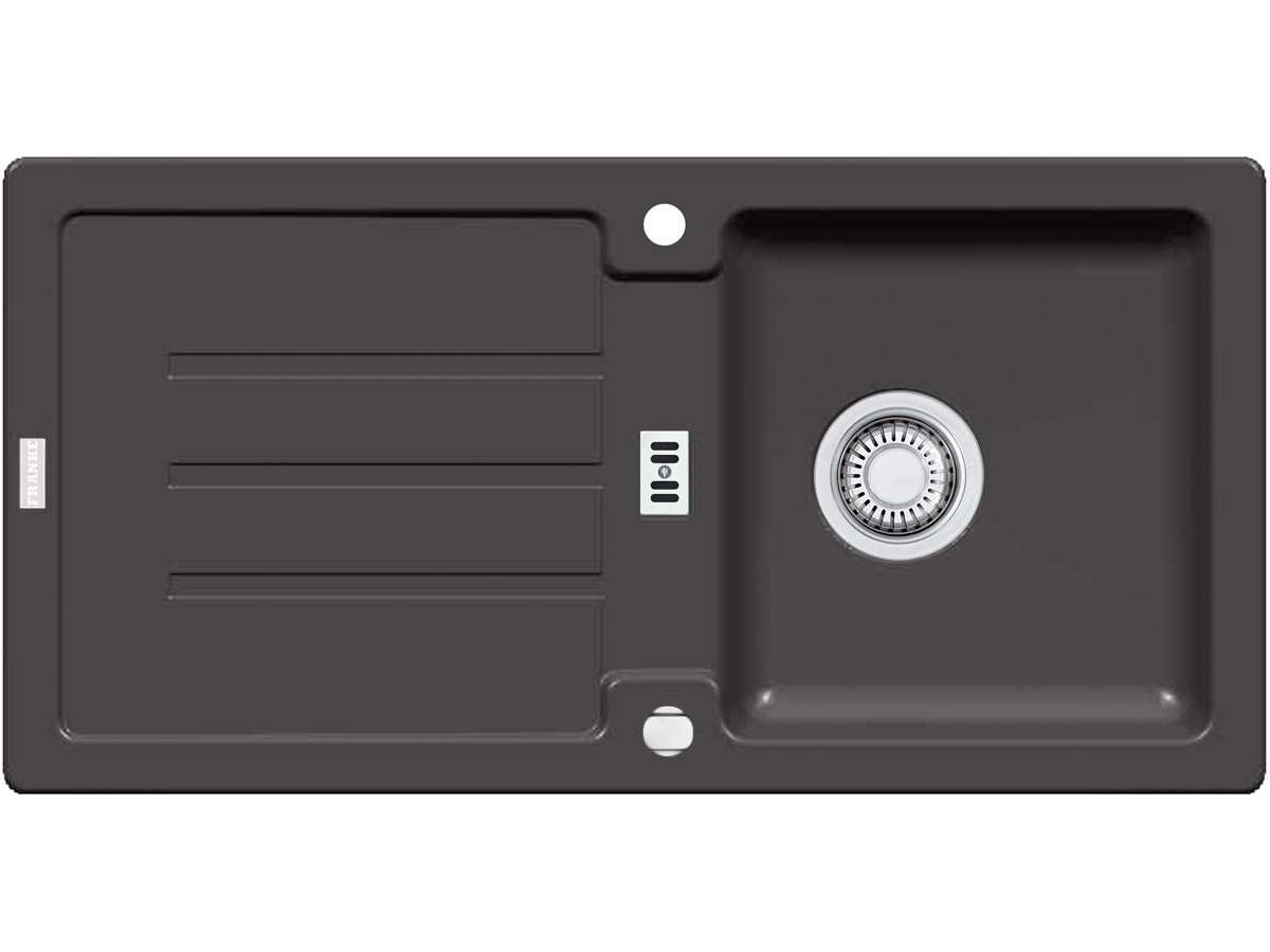 Franke Strata STG 614 Graphit Granitspüle Exzenterventil