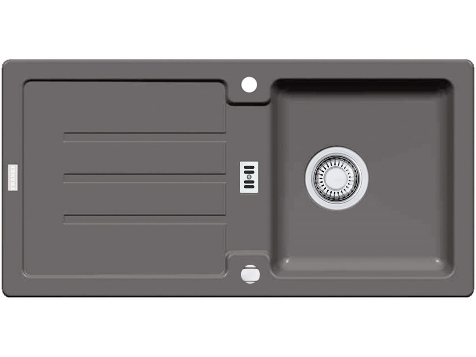 franke strata stg 614 steingrau granitsp le exzenterventil. Black Bedroom Furniture Sets. Home Design Ideas