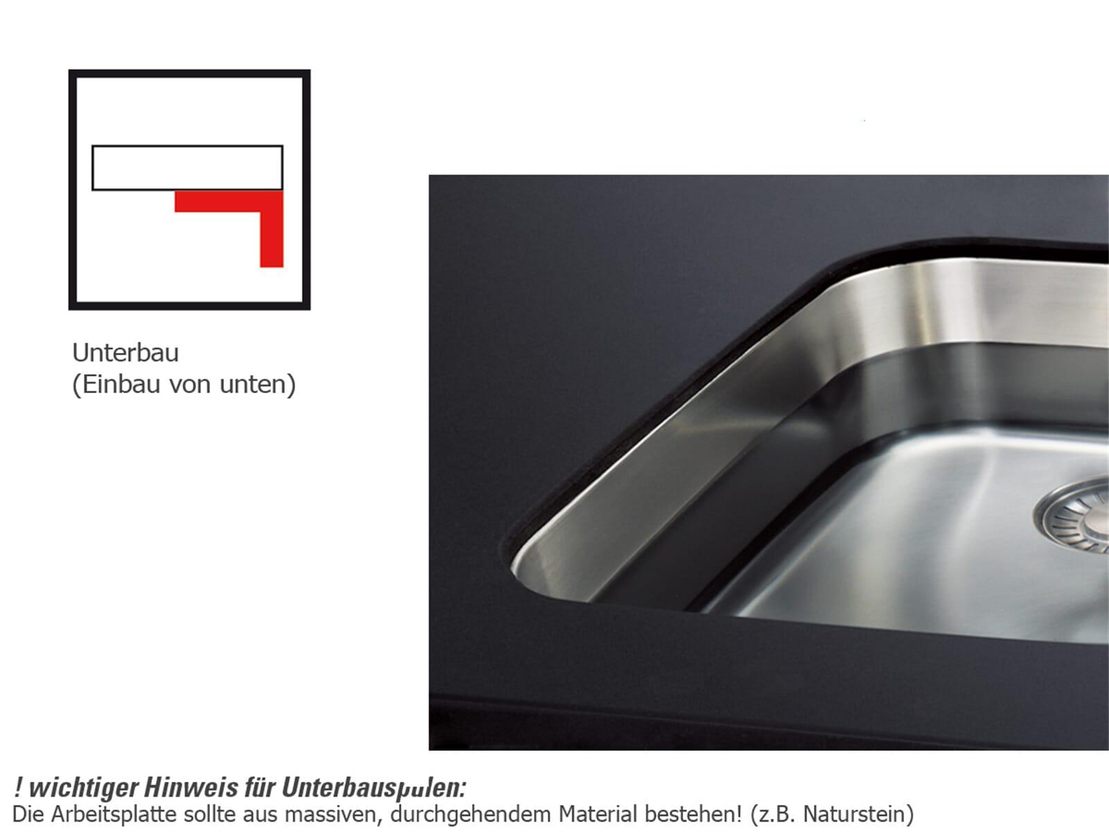 Franke Kubus KBK 160 Onyx - 126.0335.887 Keramikspüle