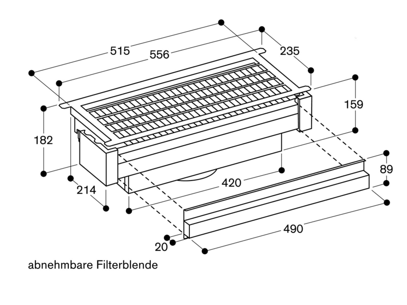 Gaggenau AA 211 812 Umluftmodul für Flachschirmhauben/Lüfterbausteine