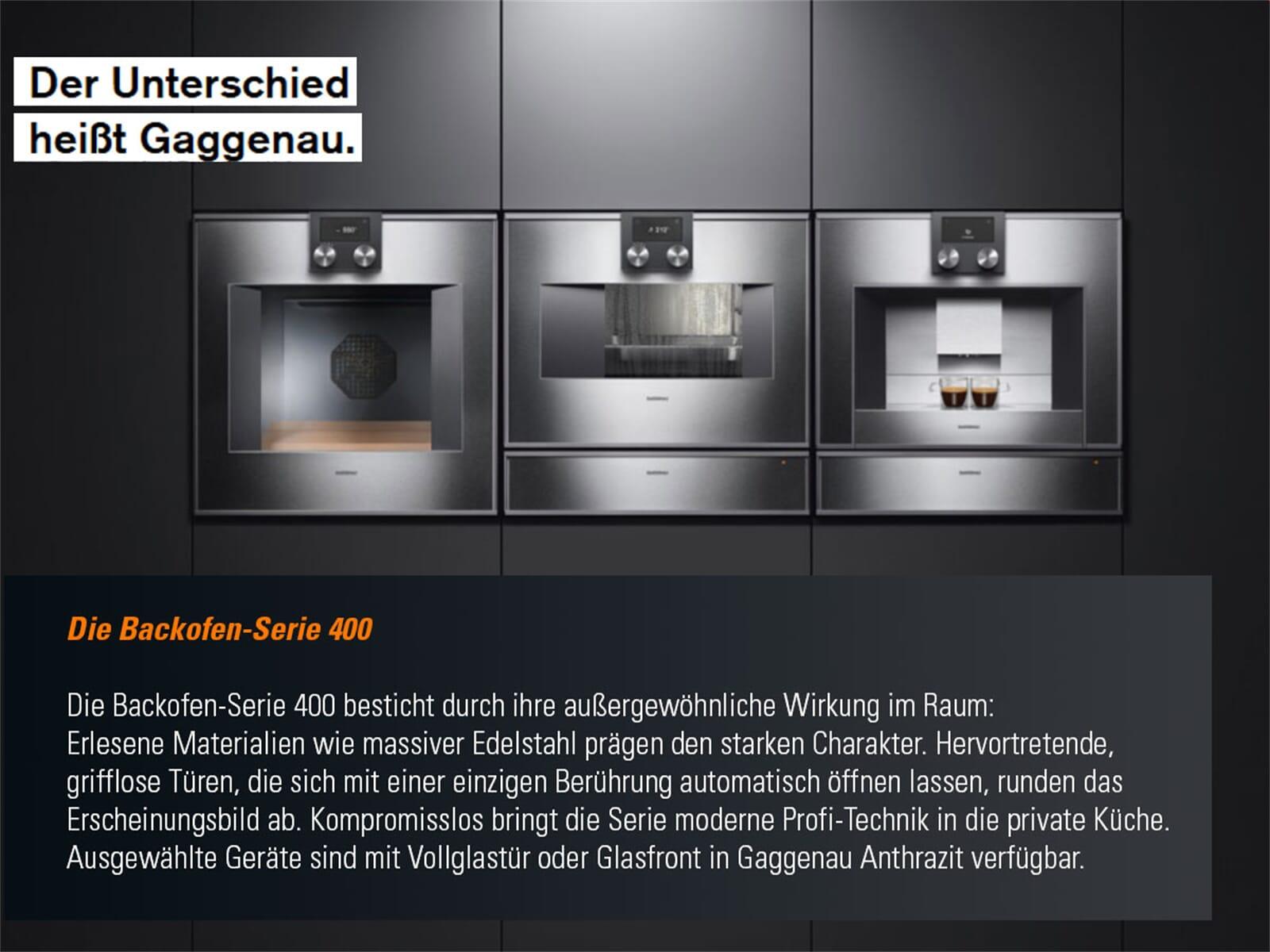 Gaggenau BS 475 101 Dampfbackofen Serie 400 Anthrazit