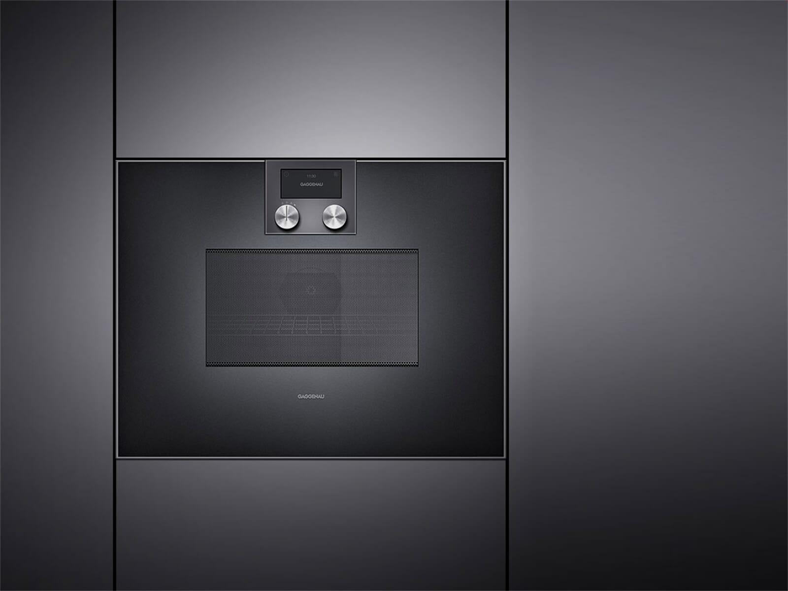 gaggenau bm 451 100 mikrowellen backofen serie 400 anthrazit. Black Bedroom Furniture Sets. Home Design Ideas
