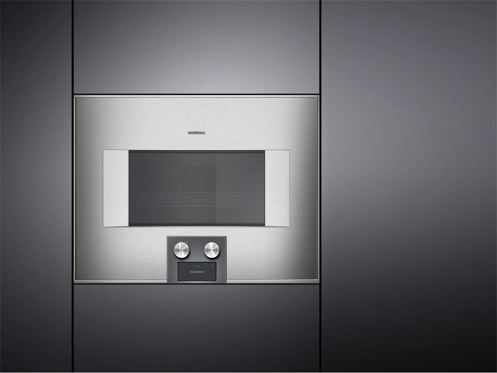 gaggenau bm 454 110 mikrowellen backofen serie 400 edelstahl glas. Black Bedroom Furniture Sets. Home Design Ideas
