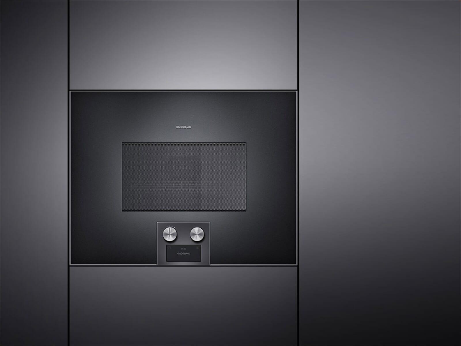 gaggenau bm 455 100 mikrowellen backofen serie 400 anthrazit. Black Bedroom Furniture Sets. Home Design Ideas
