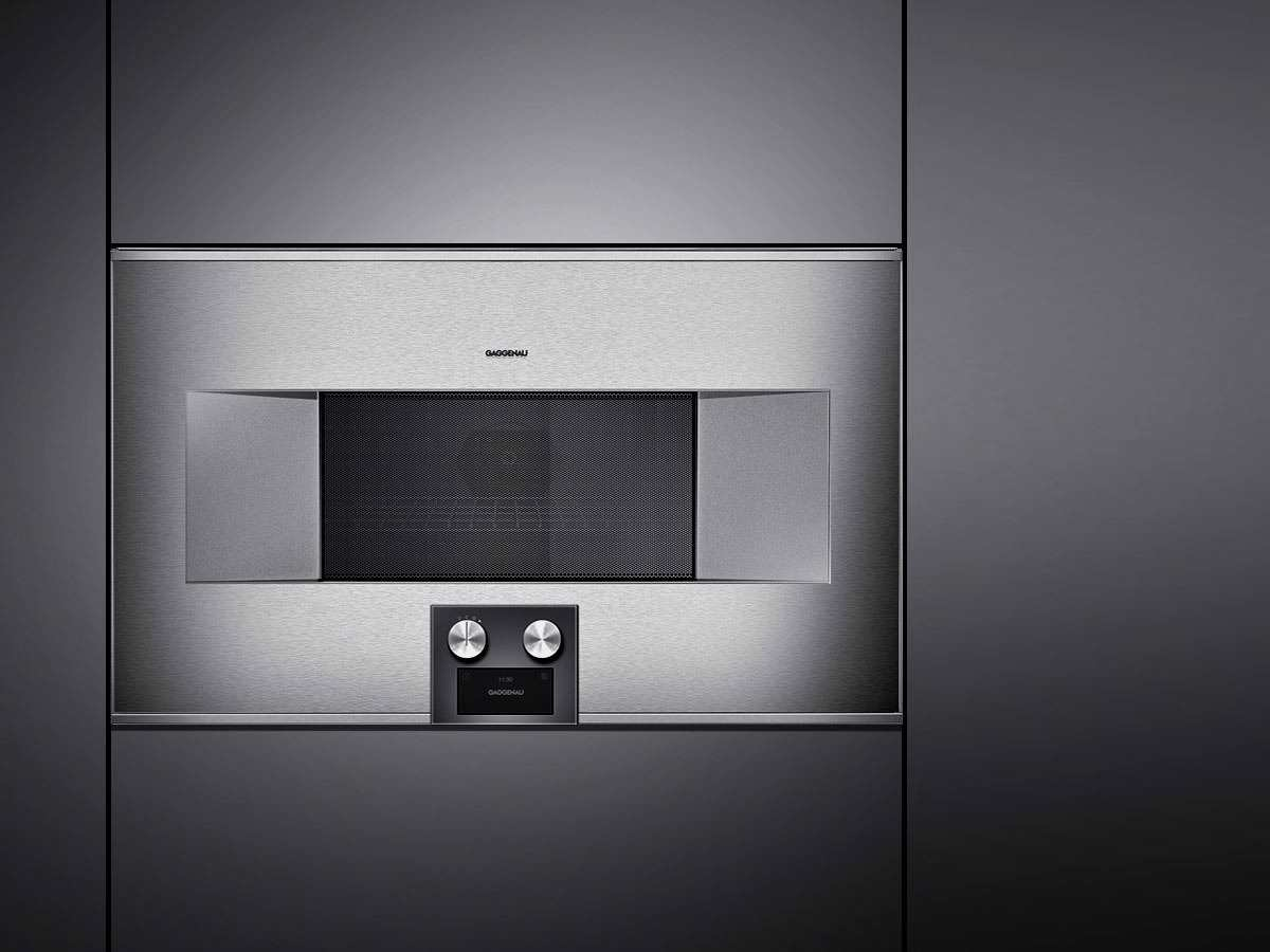 gaggenau bm 485 110 mikrowellen backofen serie 400 edelstahl glas. Black Bedroom Furniture Sets. Home Design Ideas