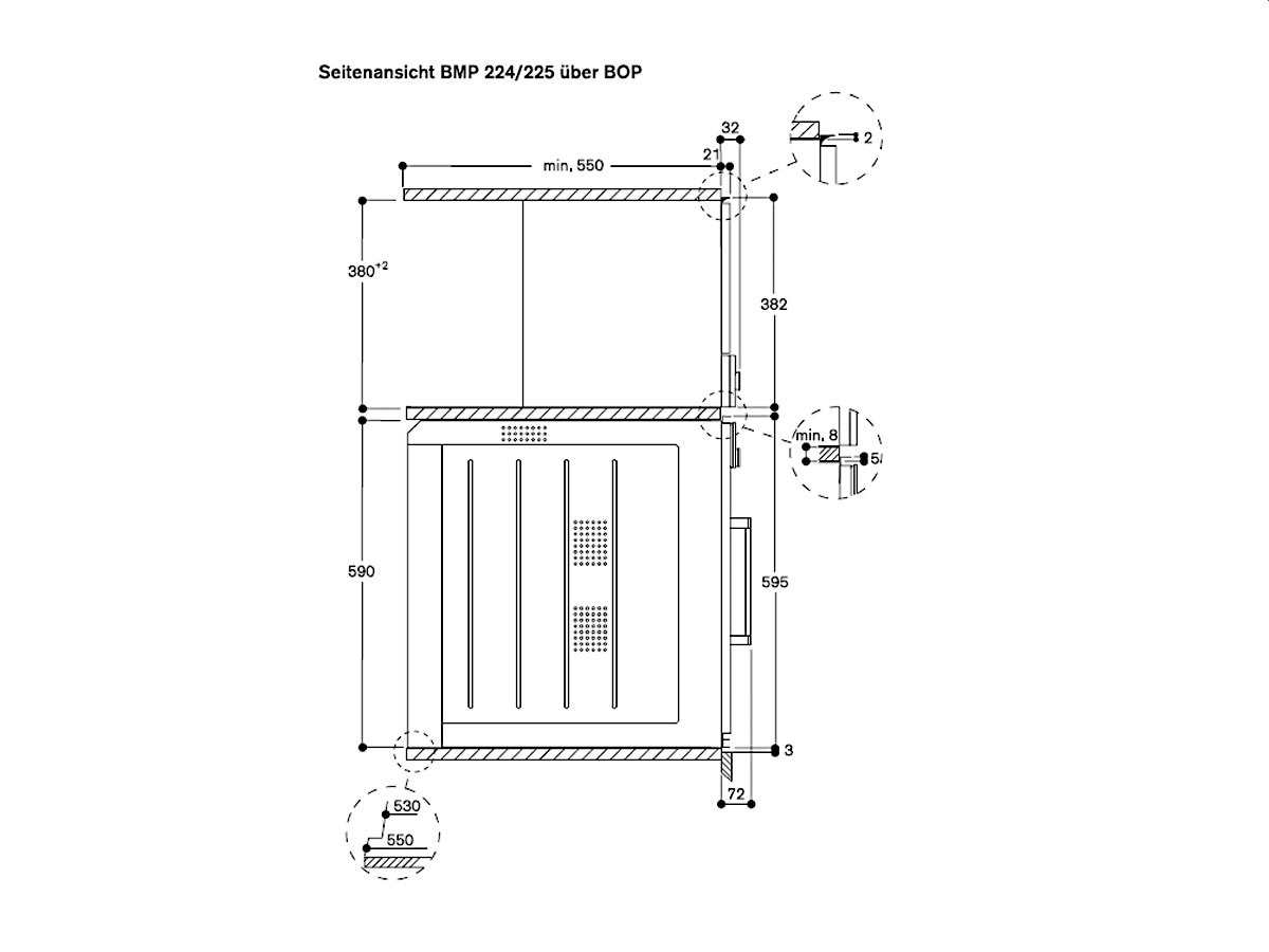 Gaggenau BMP 224 110 Einbau-Mikrowelle Serie 200 Metallic