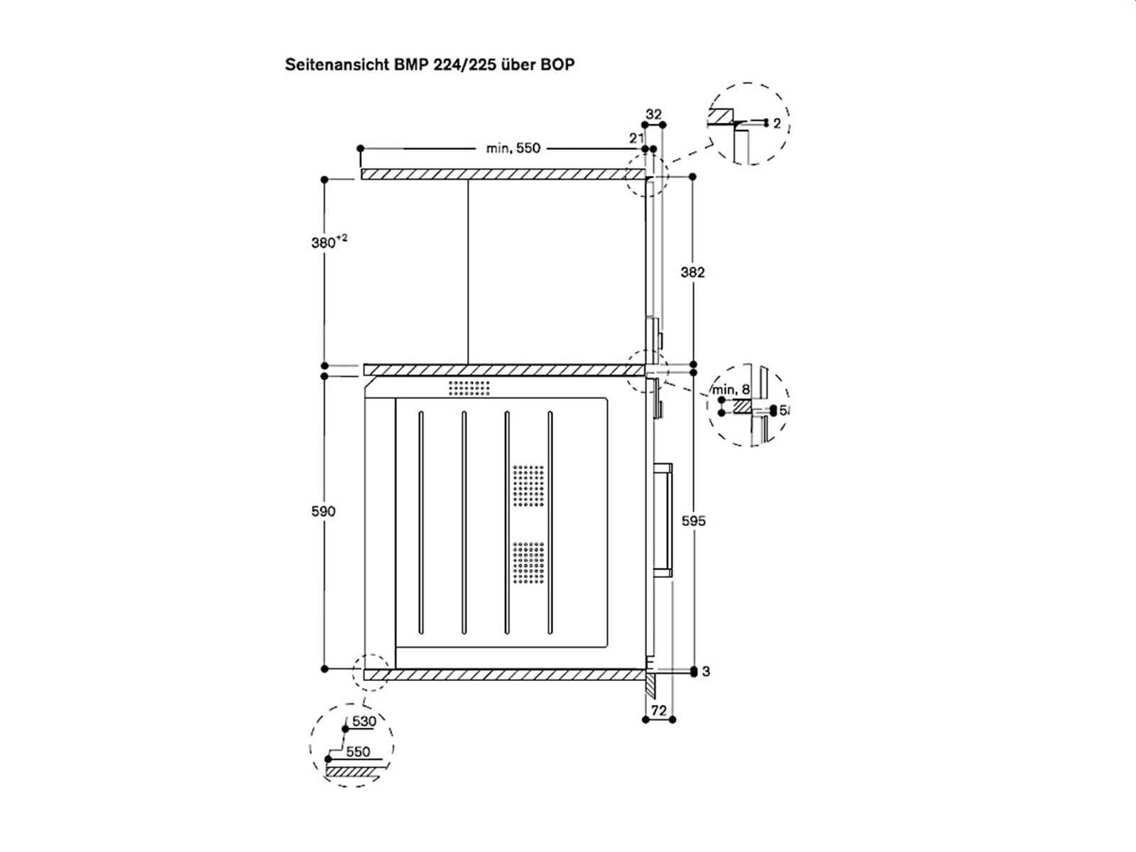 Gaggenau BMP 225 110 Einbau-Mikrowelle Serie 200 Metallic