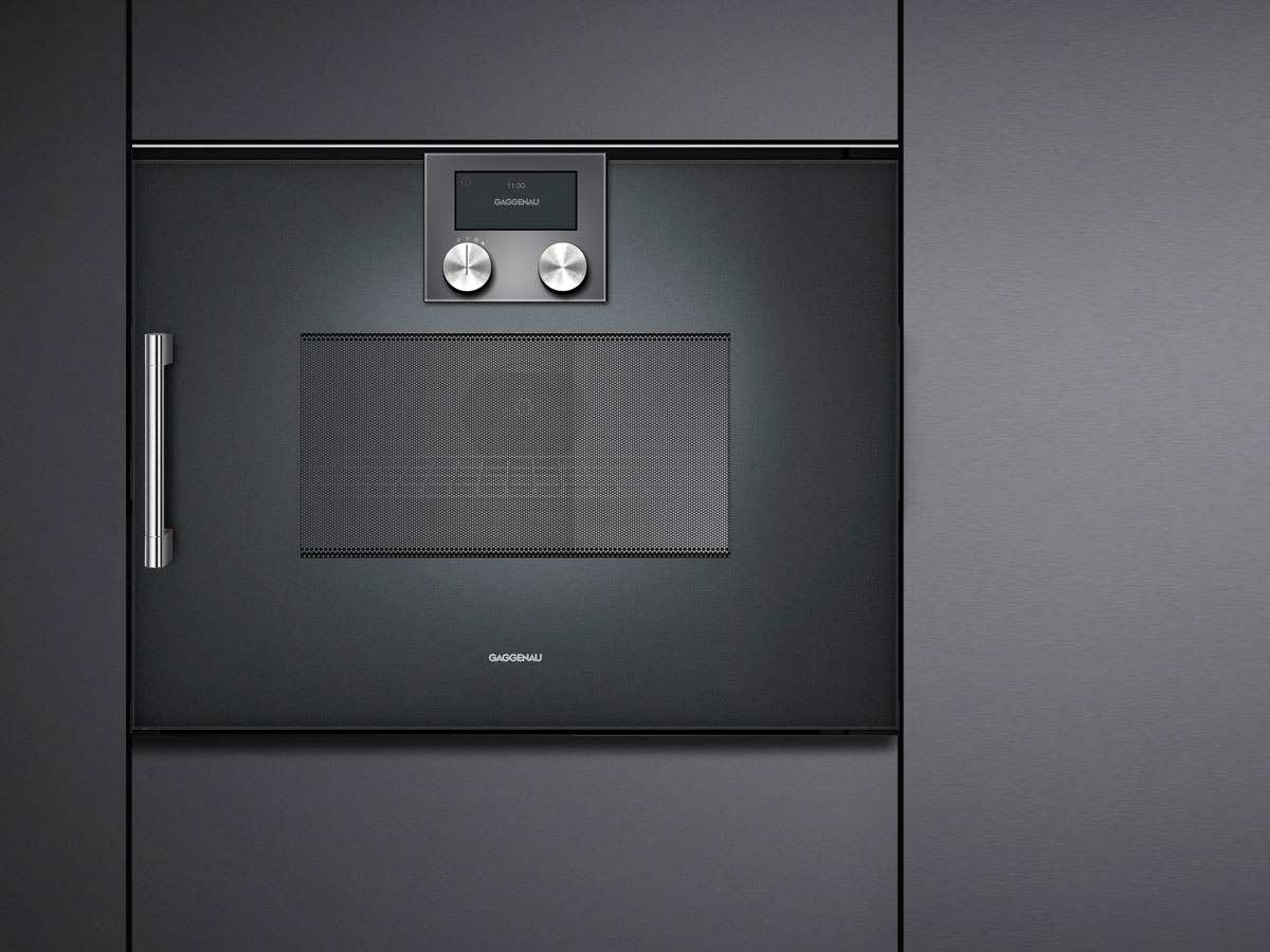 gaggenau bmp 250 100 mikrowellen backofen serie 200 anthrazit. Black Bedroom Furniture Sets. Home Design Ideas