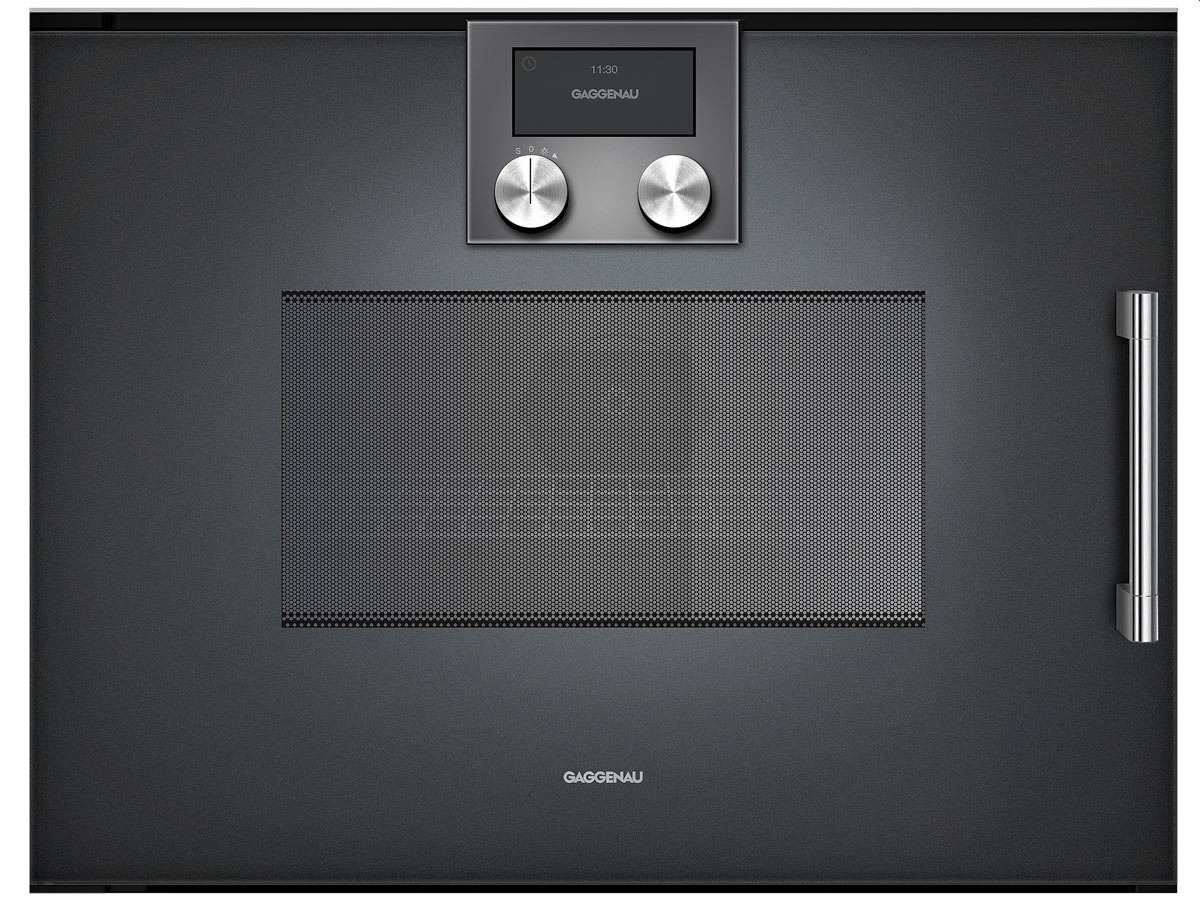 gaggenau bmp 251 100 mikrowellen backofen serie 200 anthrazit. Black Bedroom Furniture Sets. Home Design Ideas