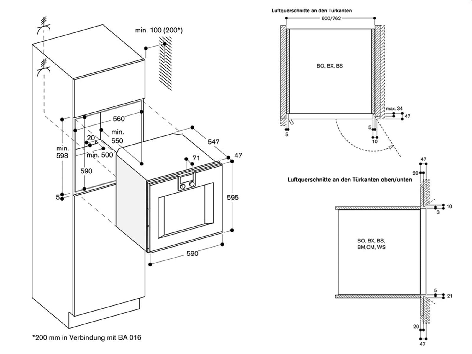 Gaggenau BO 420 111 Backofen Serie 400 Edelstahl/Glas
