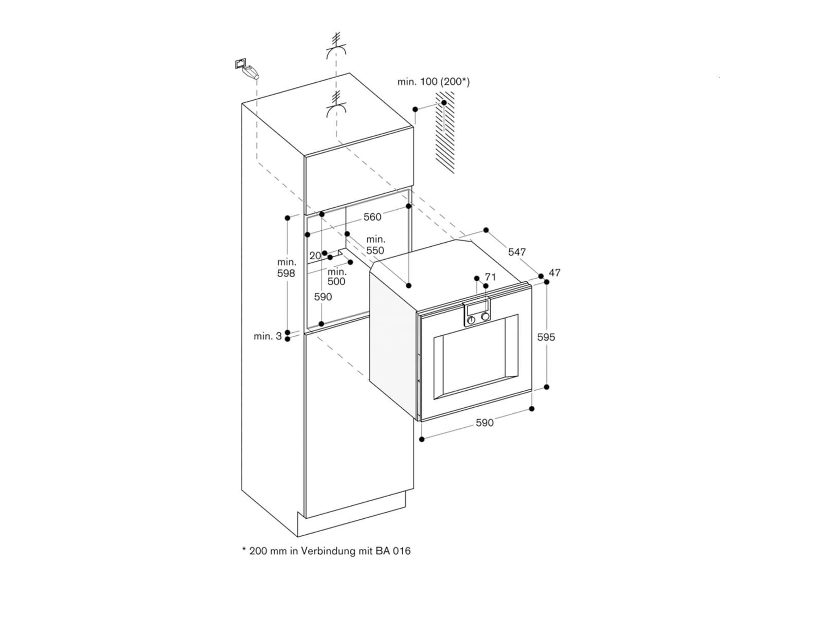 Gaggenau BO450112 Pyrolyse Backofen Serie 400 Edelstahl/Glas