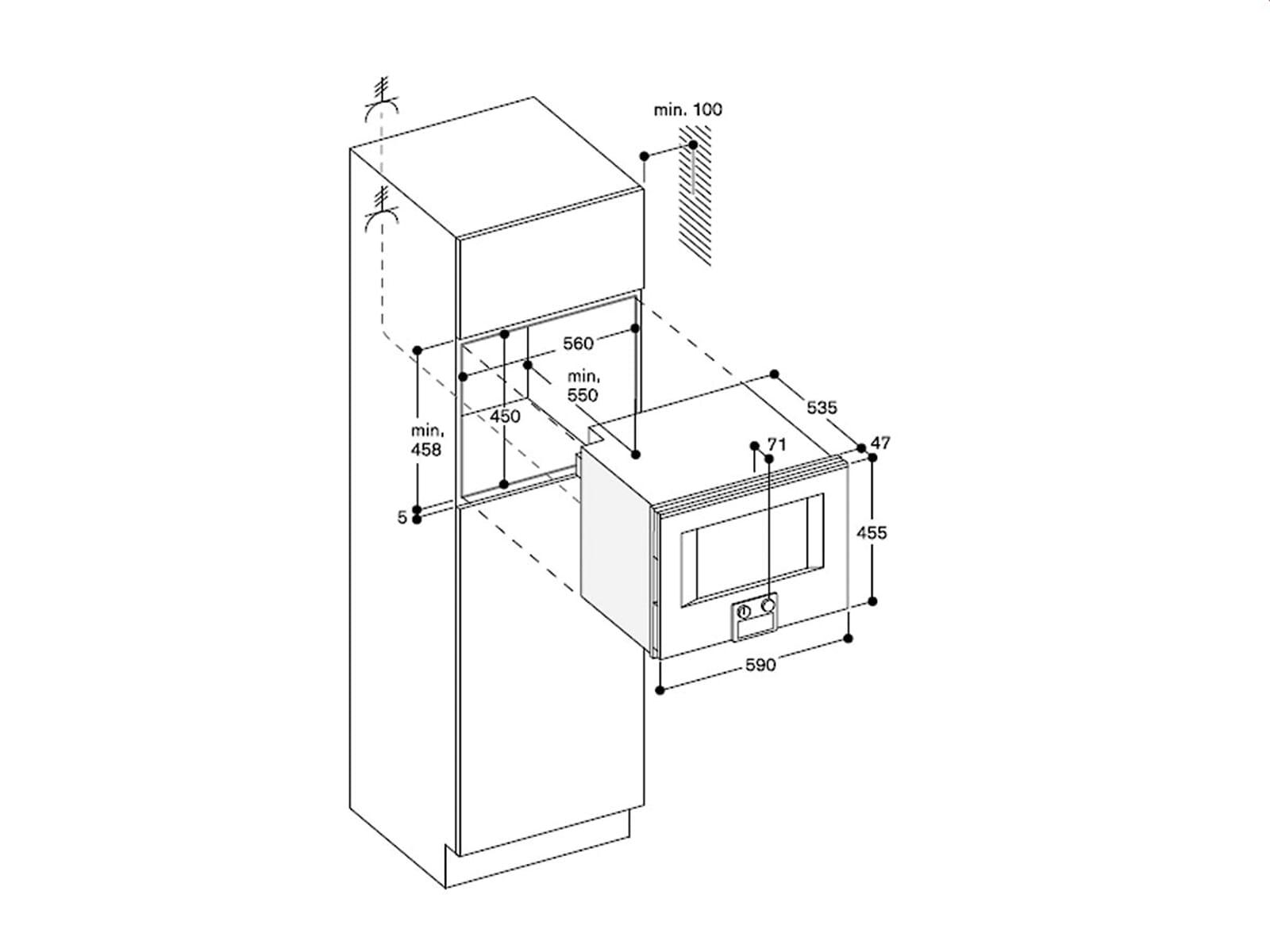 gaggenau bs 451 110 dampfbackofen serie 400 edelstahl glas. Black Bedroom Furniture Sets. Home Design Ideas