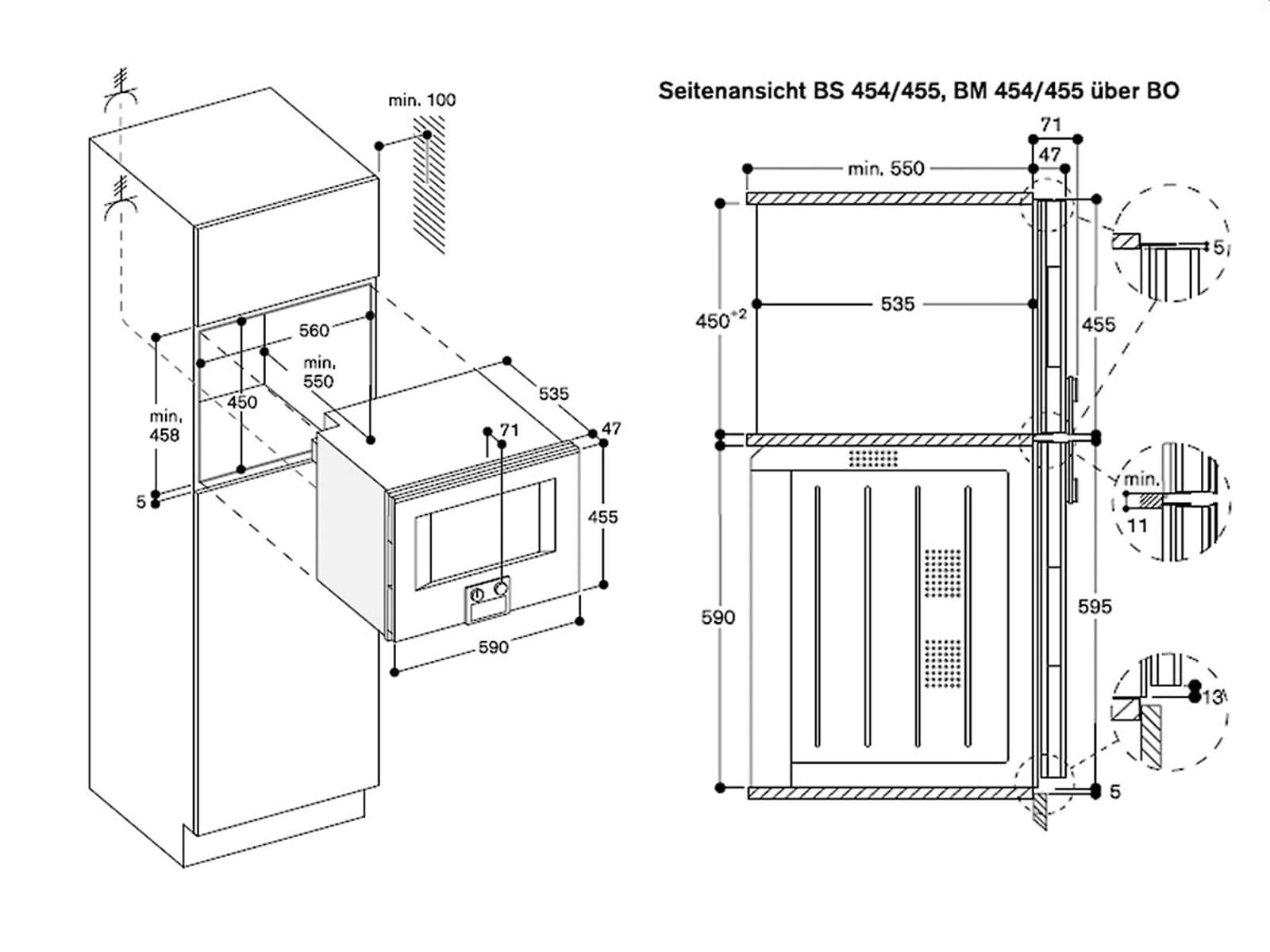 Gaggenau BS 455 110 Dampfbackofen Serie 400 Edelstahl/Glas