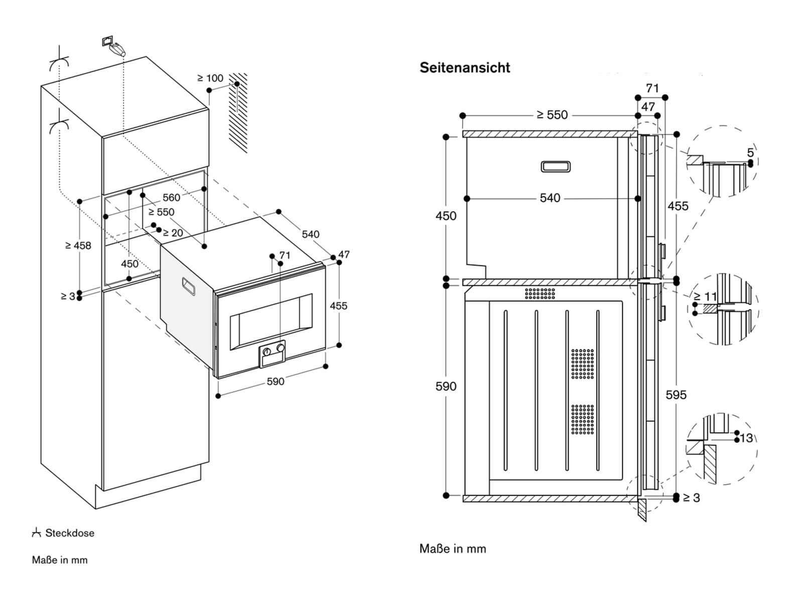 Gaggenau BS 450 111 Dampfbackofen Serie 400 Edelstahl/Glas