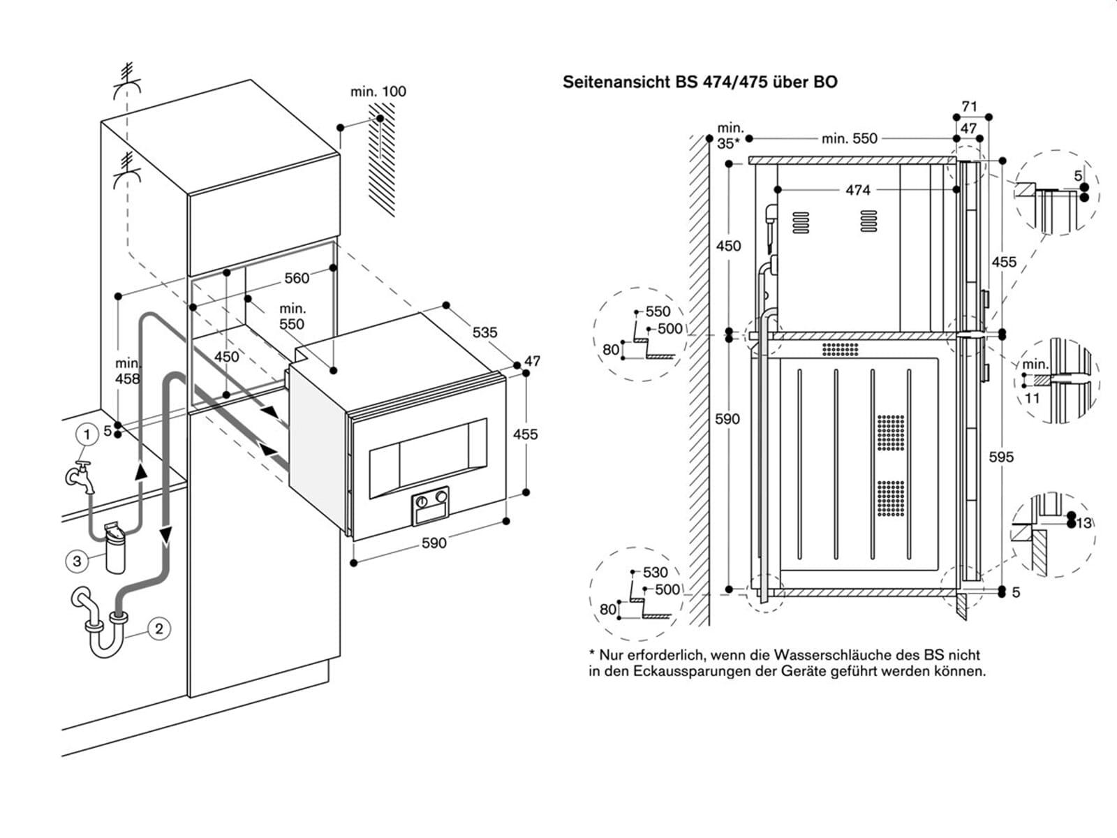 Gaggenau BS 474 101 Dampfbackofen Serie 400 Anthrazit