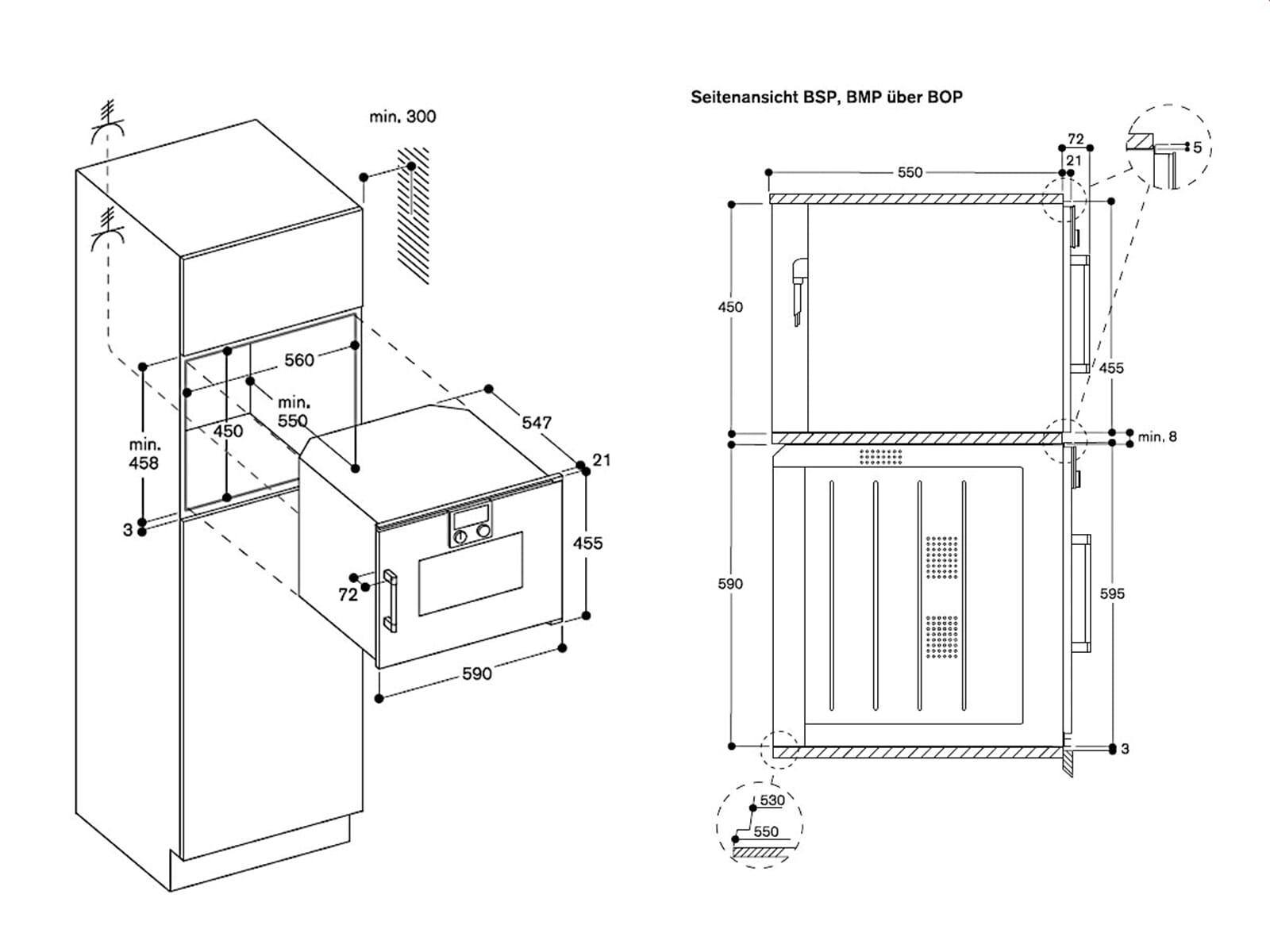 Gaggenau BSP 221 100 Kompakt Dampfgarer Serie 200 Anthrazit