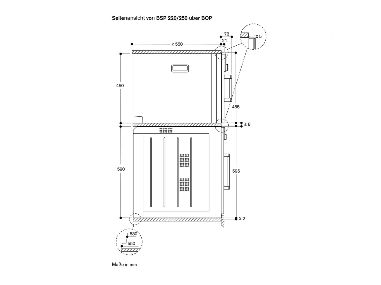 Gaggenau BSP 221 101 Dampfgarer Serie 200 Anthrazit