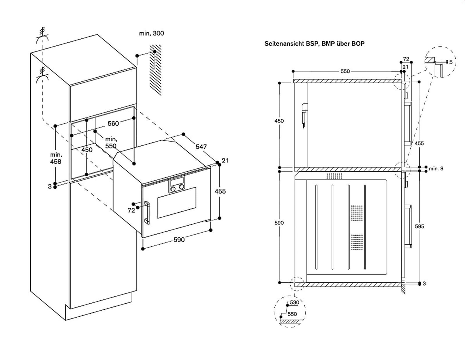 Gaggenau BSP 250 110 Dampfbackofen Serie 200 Metallic