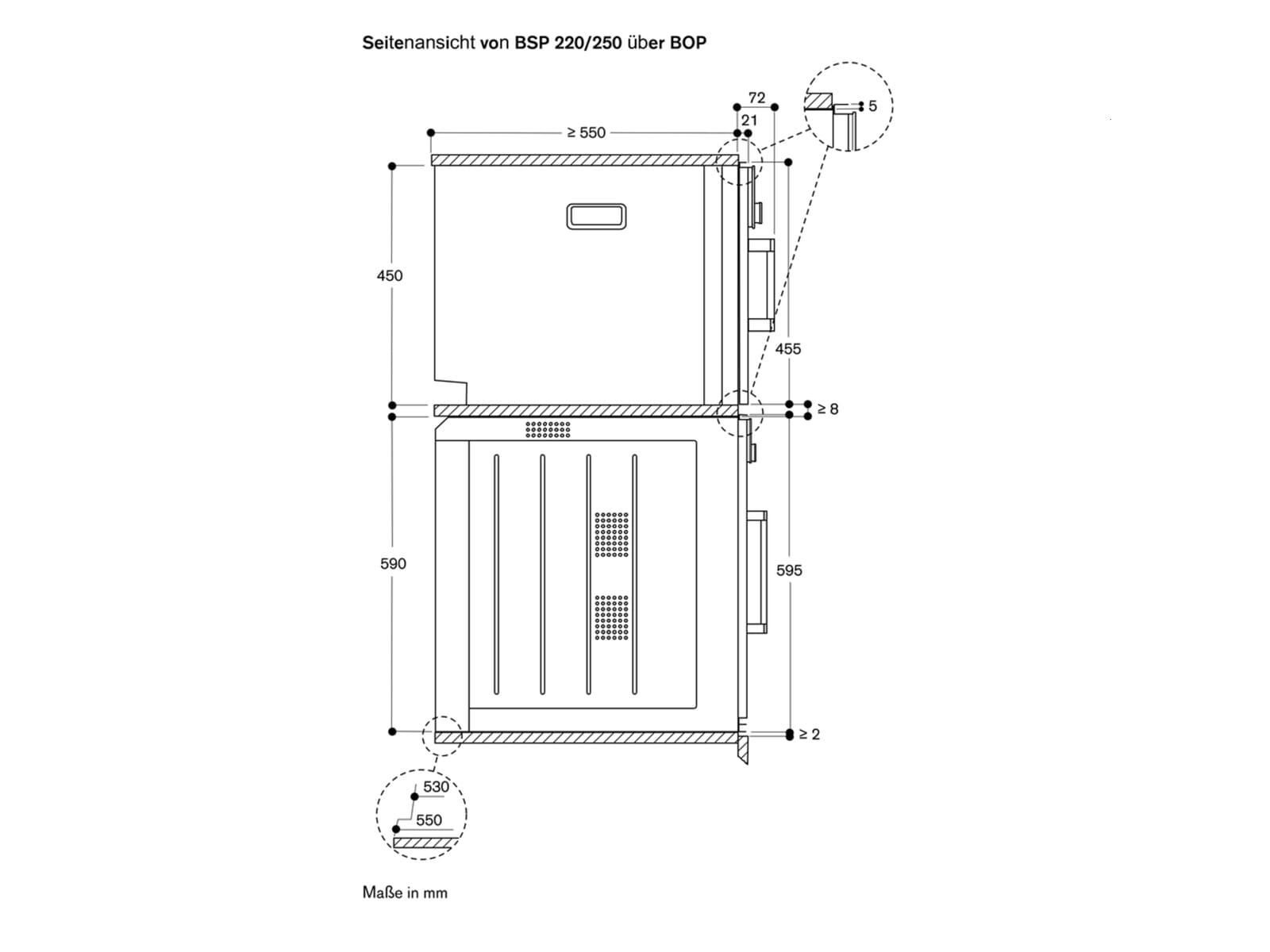 Gaggenau BSP 251 111 Dampfbackofen Serie 200 Metallic