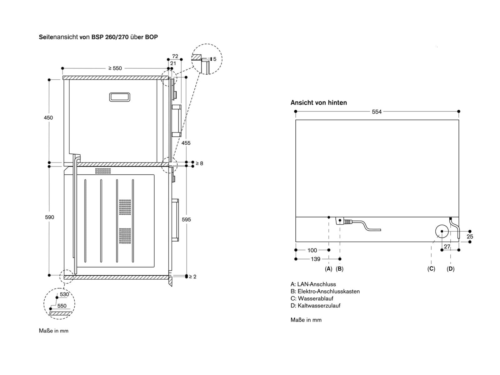 Gaggenau BSP 270 101 Dampfbackofen Serie 200 Anthrazit
