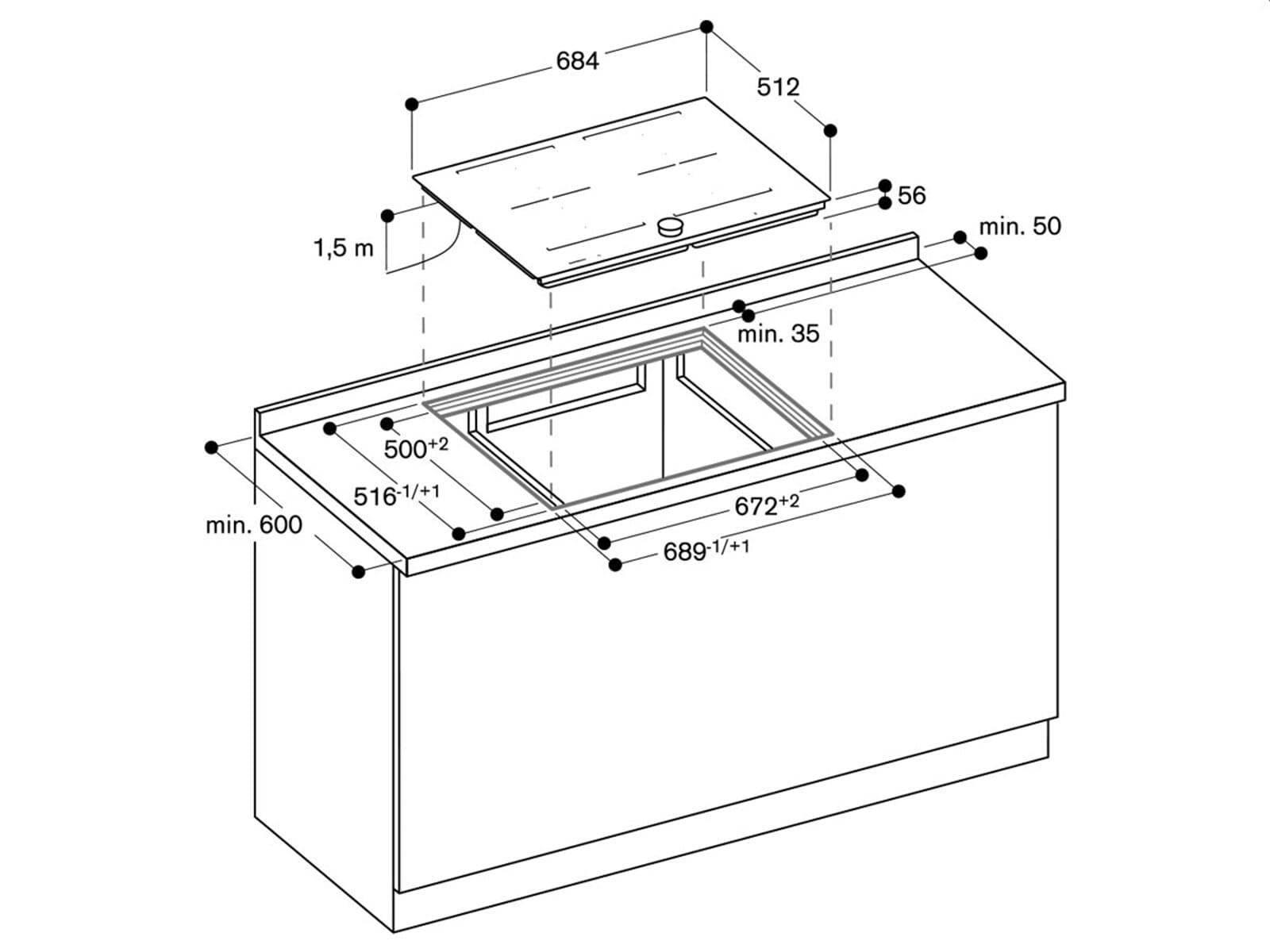 gaggenau ci 272 100 induktionskochfeld autark. Black Bedroom Furniture Sets. Home Design Ideas
