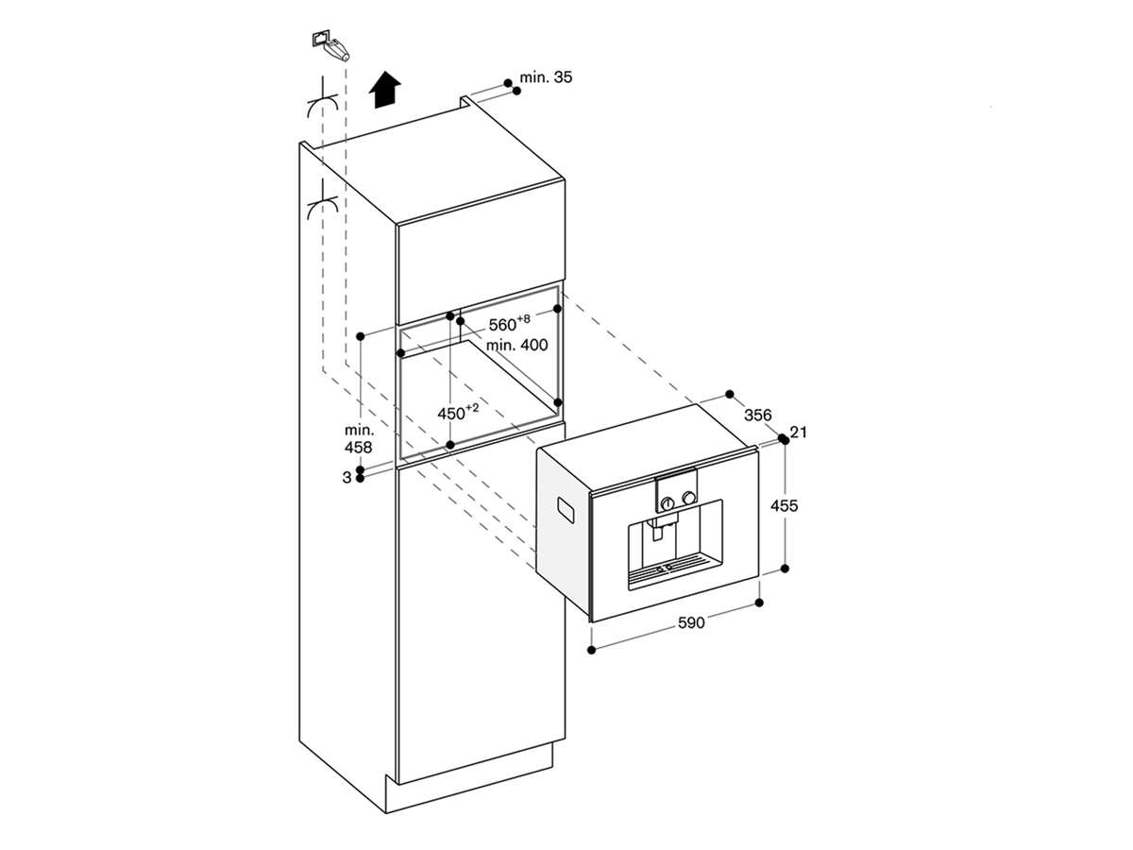 Gaggenau CMP 250 112 Einbau-Espressovollautomat Serie 200 Metallic