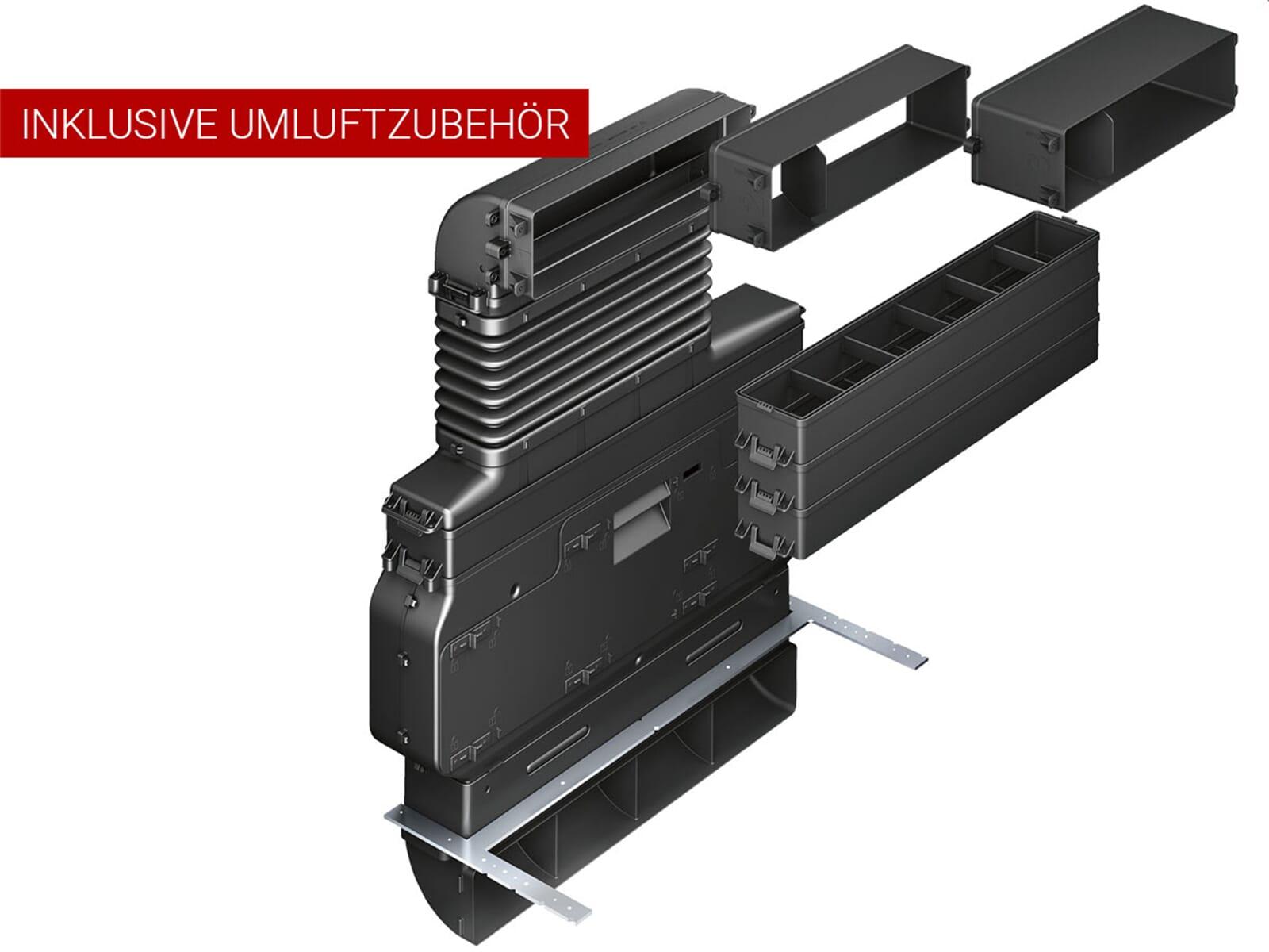 Set Siemens studioLine Dampfgar-Backofen HS836GVB6 + Gaggenau CV282100 Kochfeldabzug Umluft