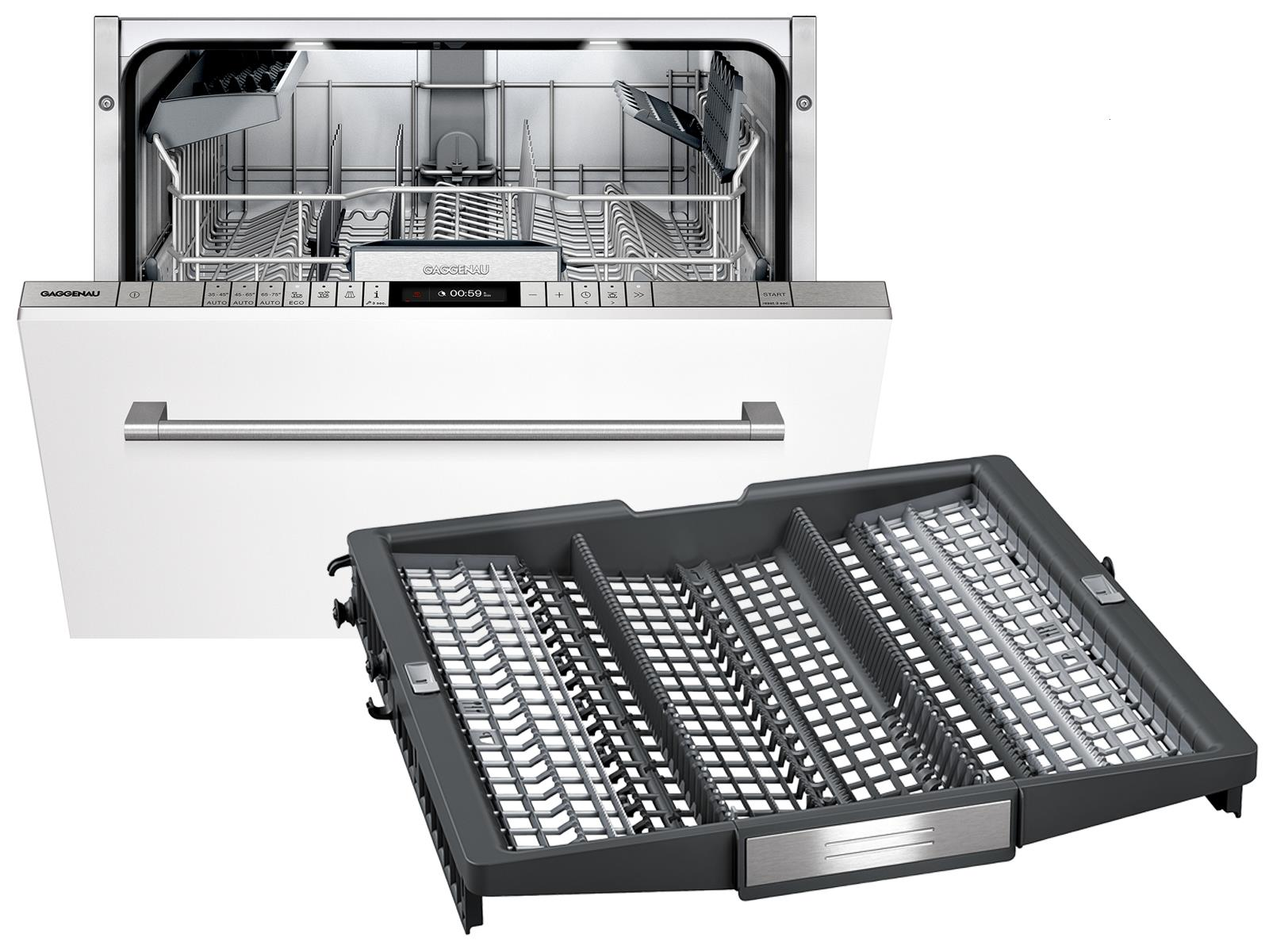 Gaggenau DF 251 160 BS Serie 200 Vollintegrierbarer Einbaugeschirrspüler XXL inkl. Besteckschublade