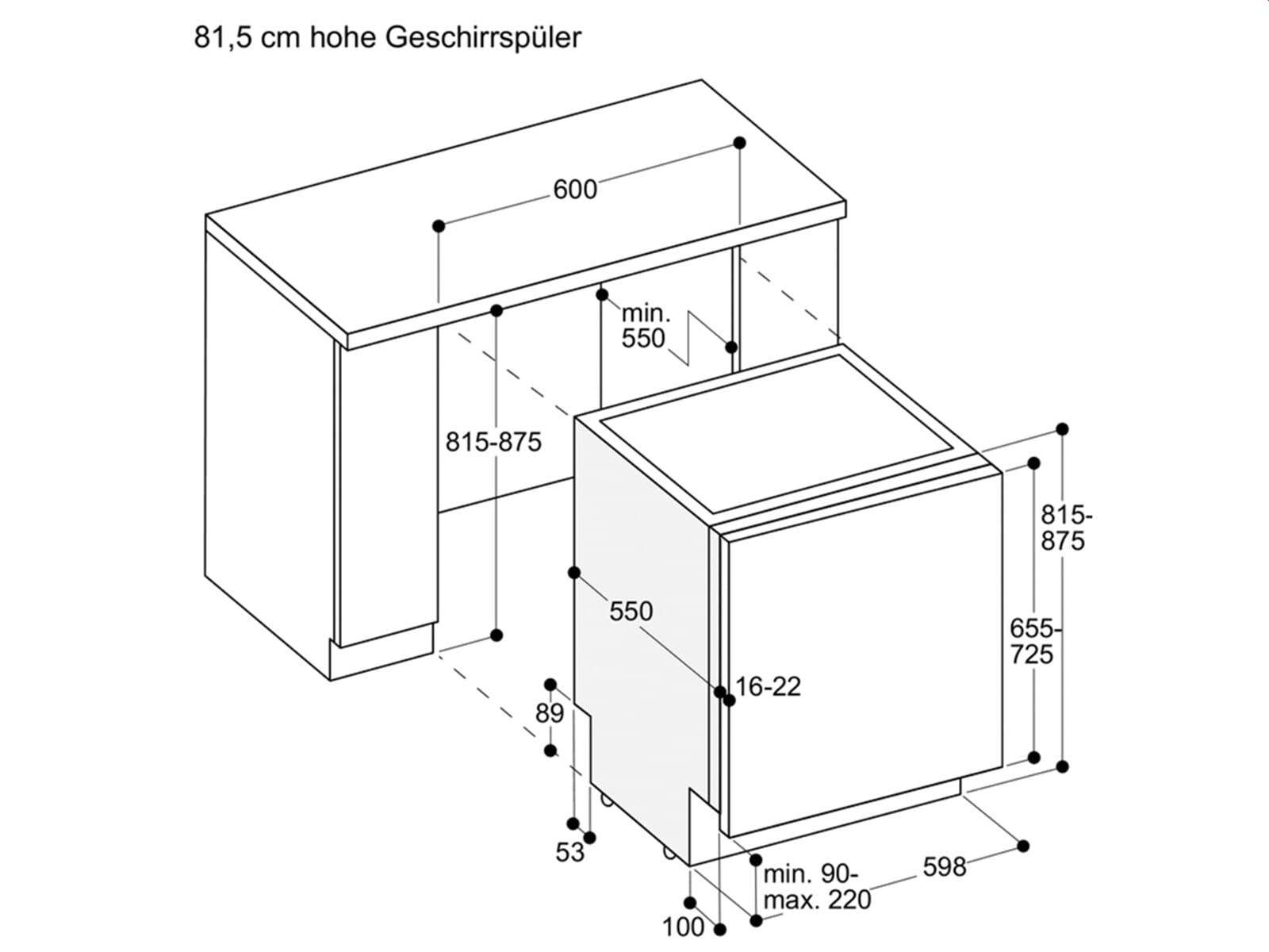 Gaggenau DF 260 165 Serie 200 Vollintegrierbarer Einbaugeschirrspüler