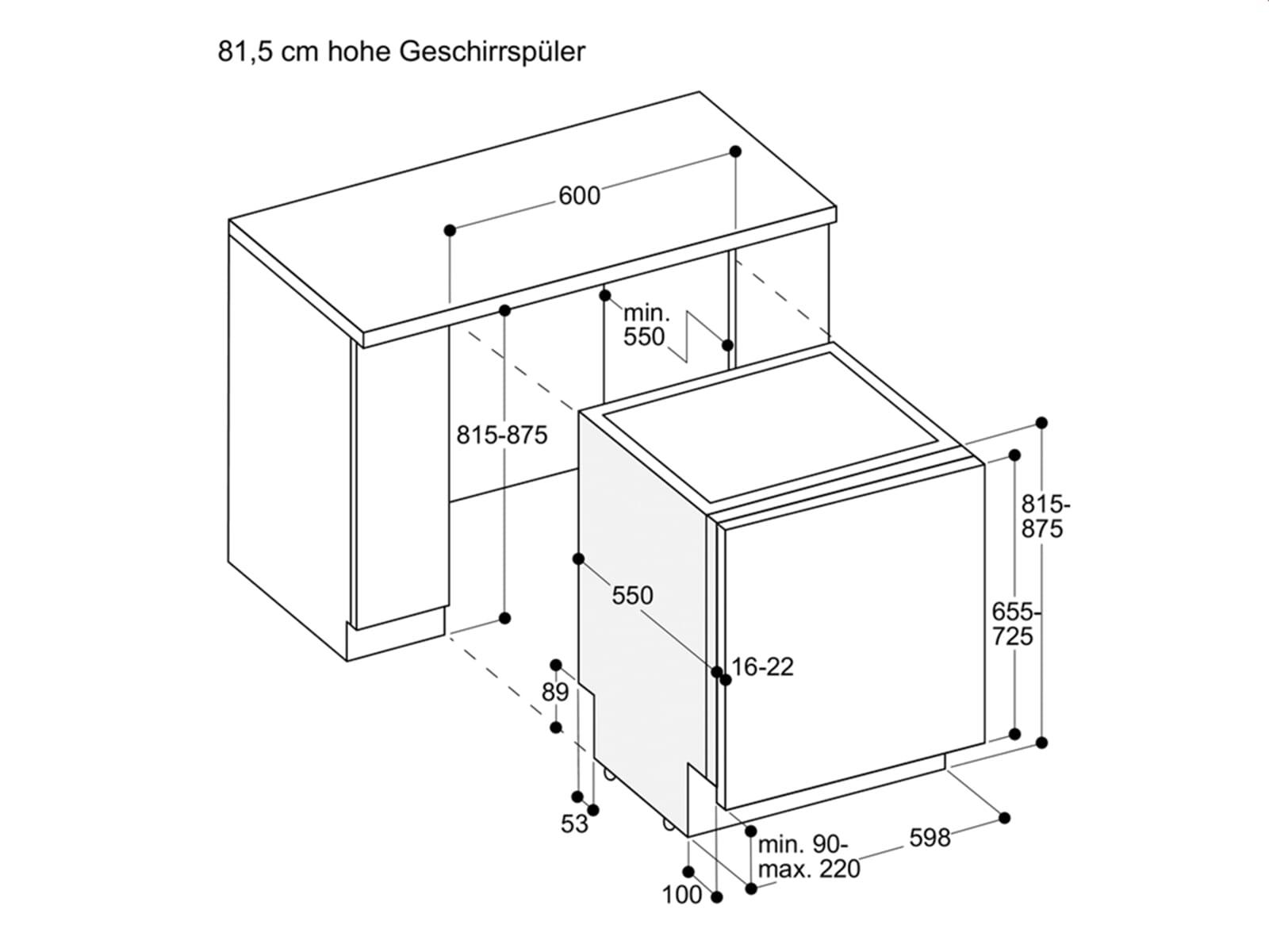 Gaggenau DF 480 162 Serie 400 Vollintegrierbarer Einbaugeschirrspüler