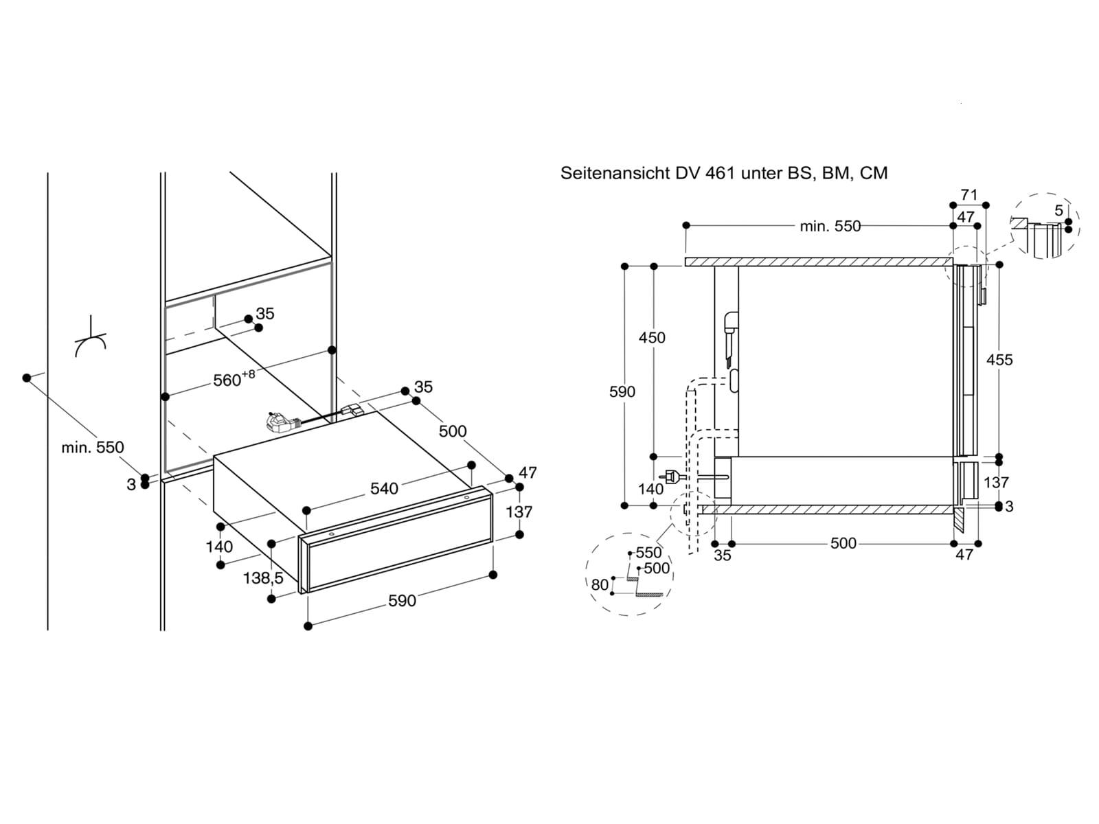 Gaggenau DV 461 110 Vakuumierschublade Serie 400 Edelstahl/Glas