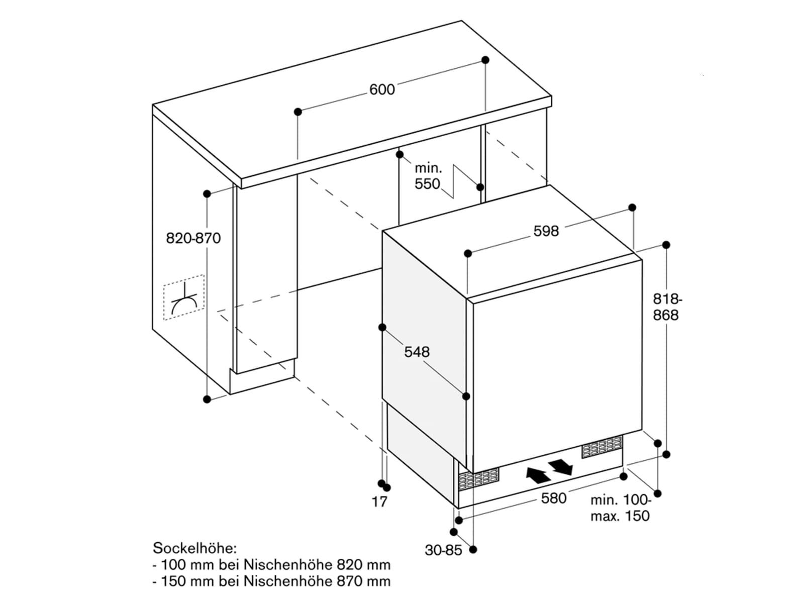 Gaggenau RC 200 202 Serie 200 Unterbaukühlschrank