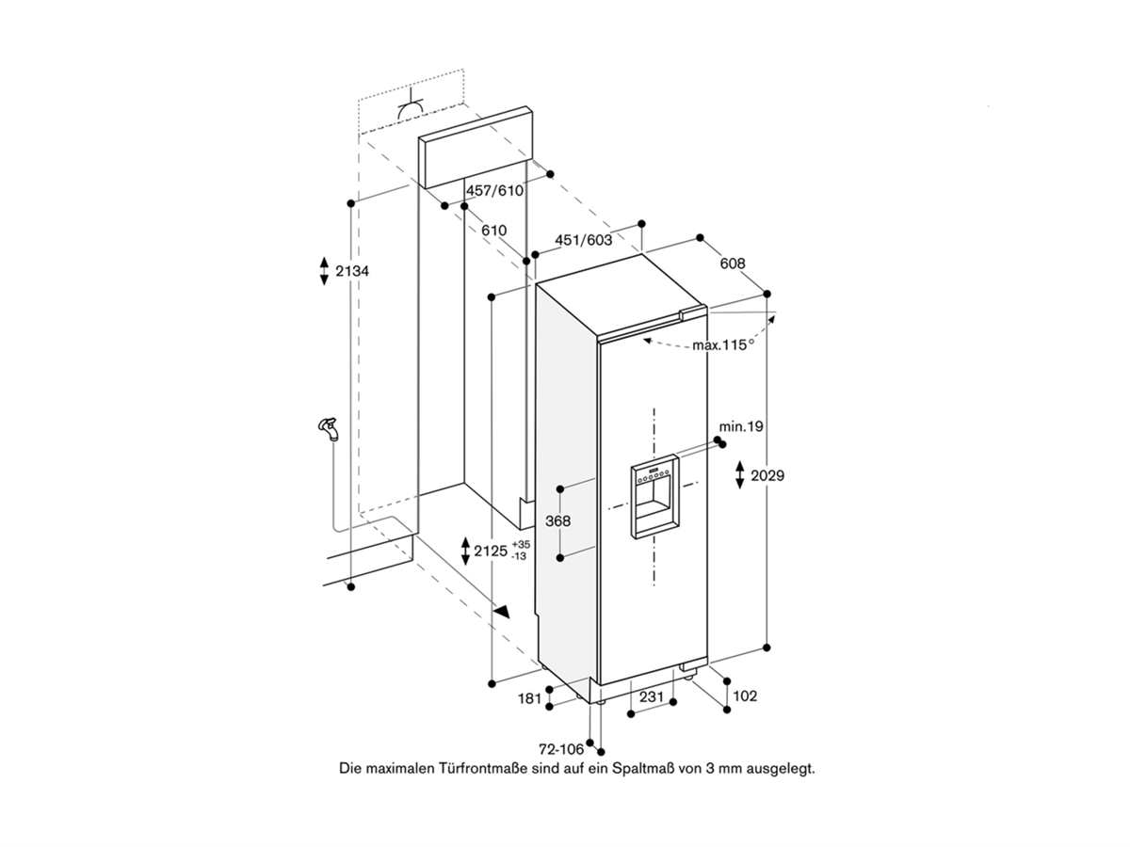Gaggenau RF 463 300 Serie 400 Einbaugefrierschrank