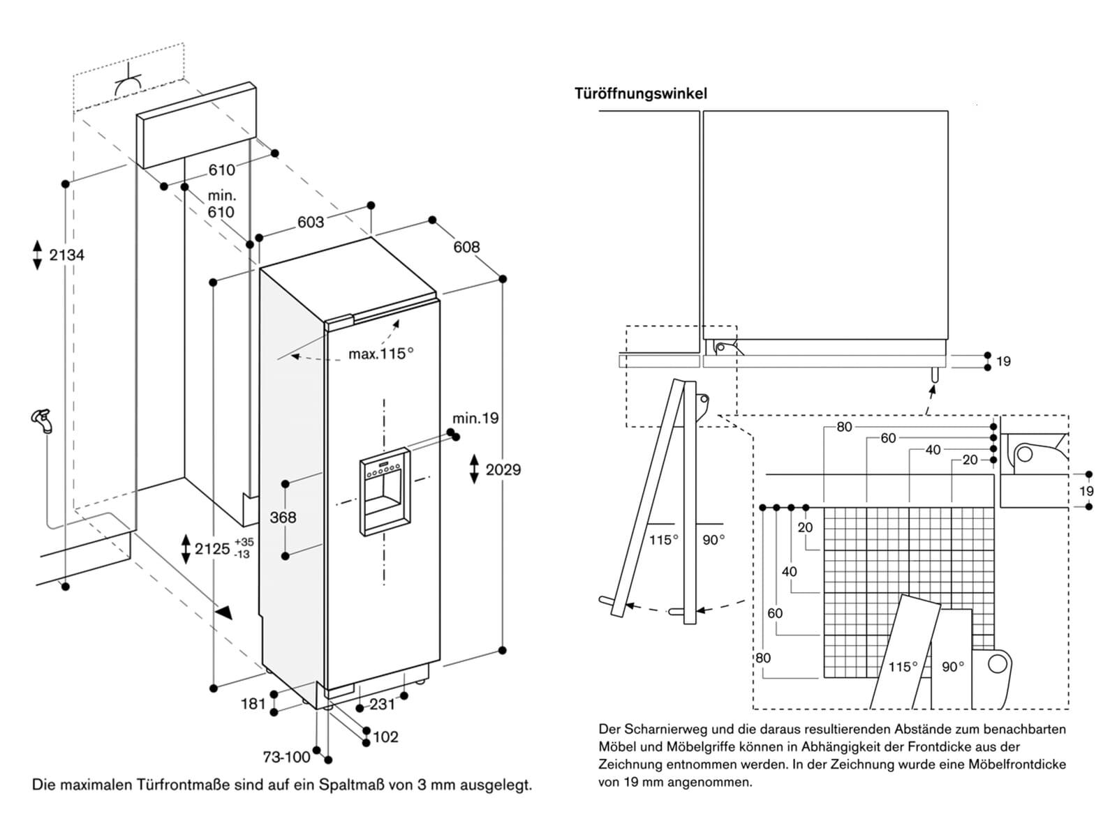 Gaggenau RF 463 305 Serie 400 Einbaugefrierschrank