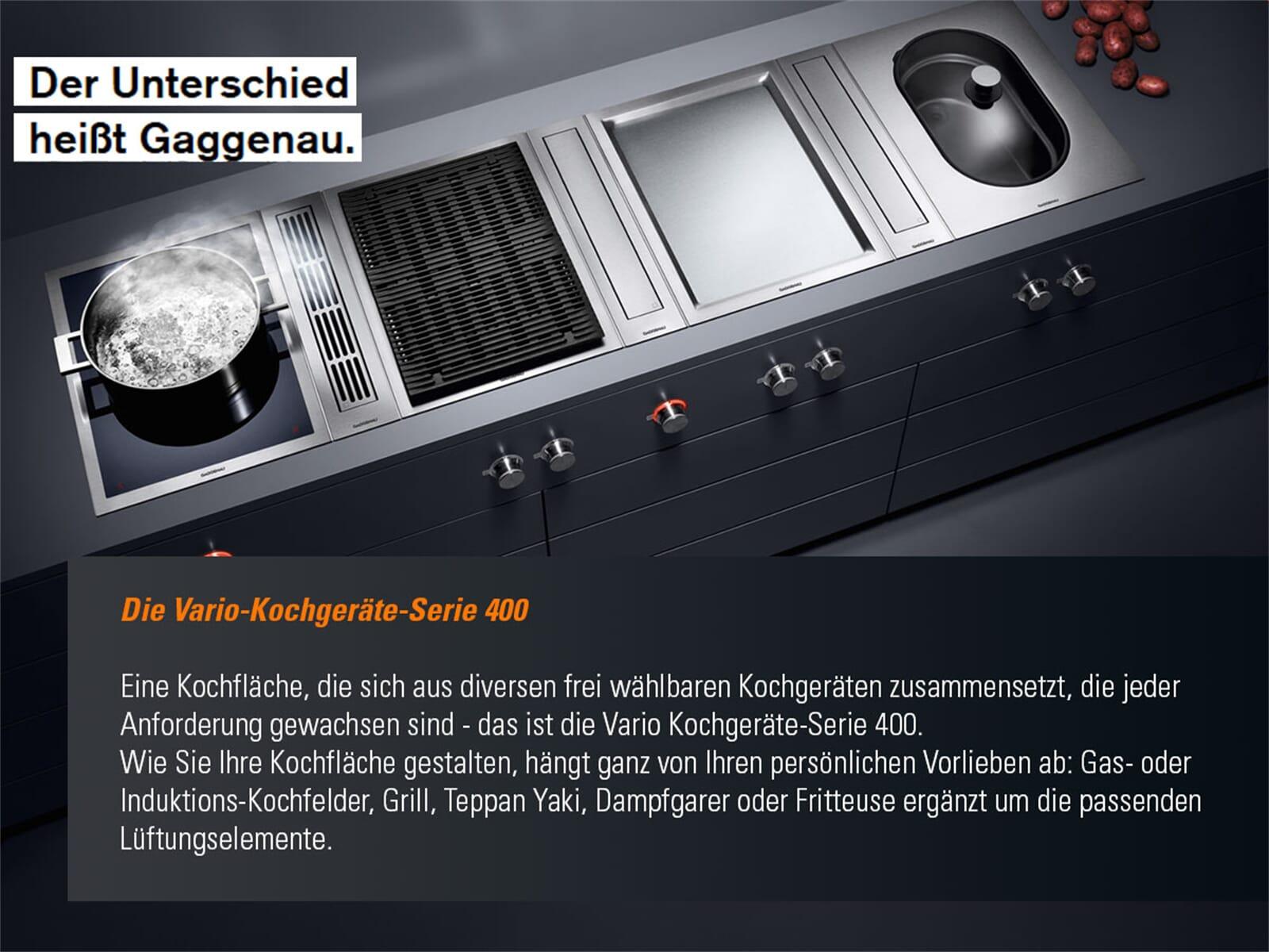 gaggenau vr 414 110 serie 400 domino elektro grill edelstahl. Black Bedroom Furniture Sets. Home Design Ideas