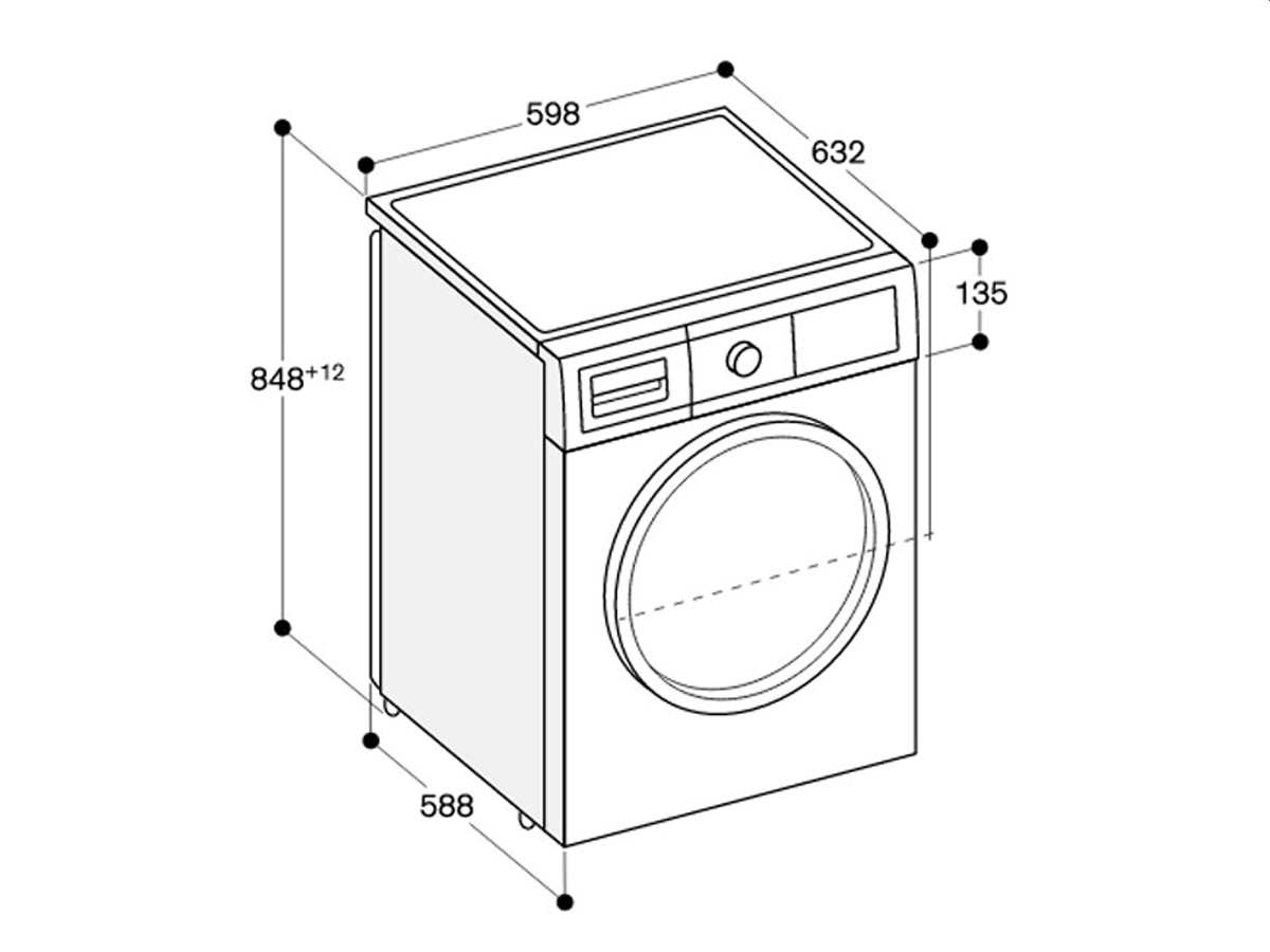 Gaggenau WM 260 163 Waschmaschine Weiß