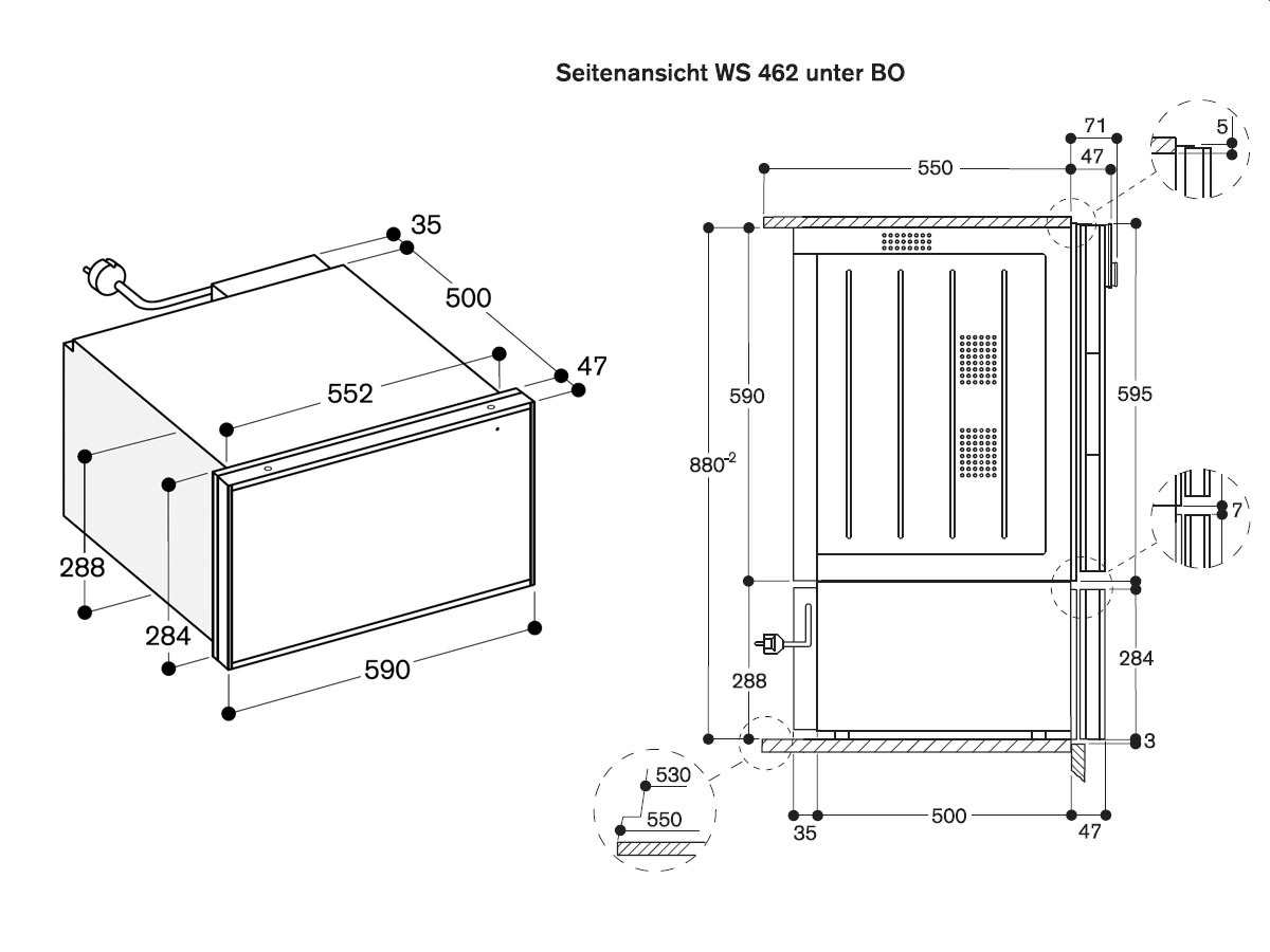 Gaggenau WS 462 110 Wärmeschublade Serie 400 Edelstahl/Glas
