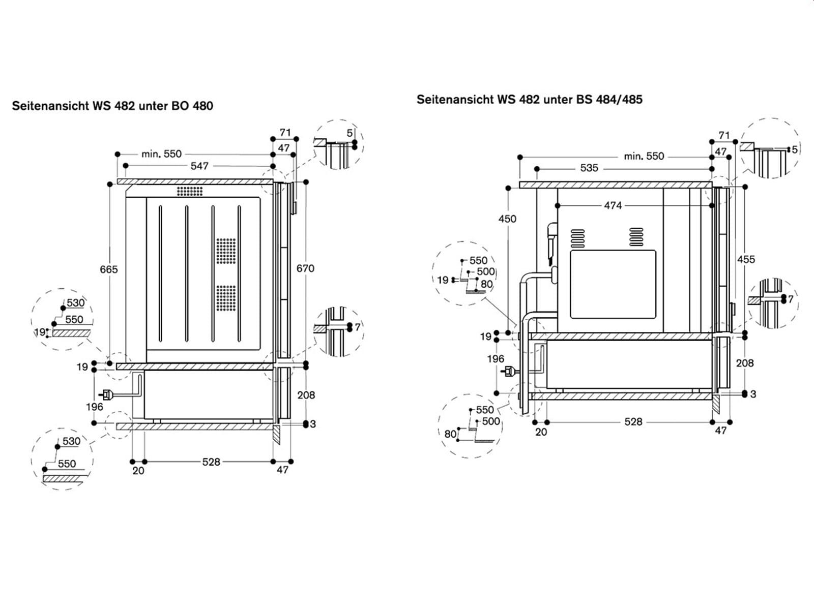Gaggenau WS 482 110 Wärmeschublade Serie 400 Edelstahl/Glas