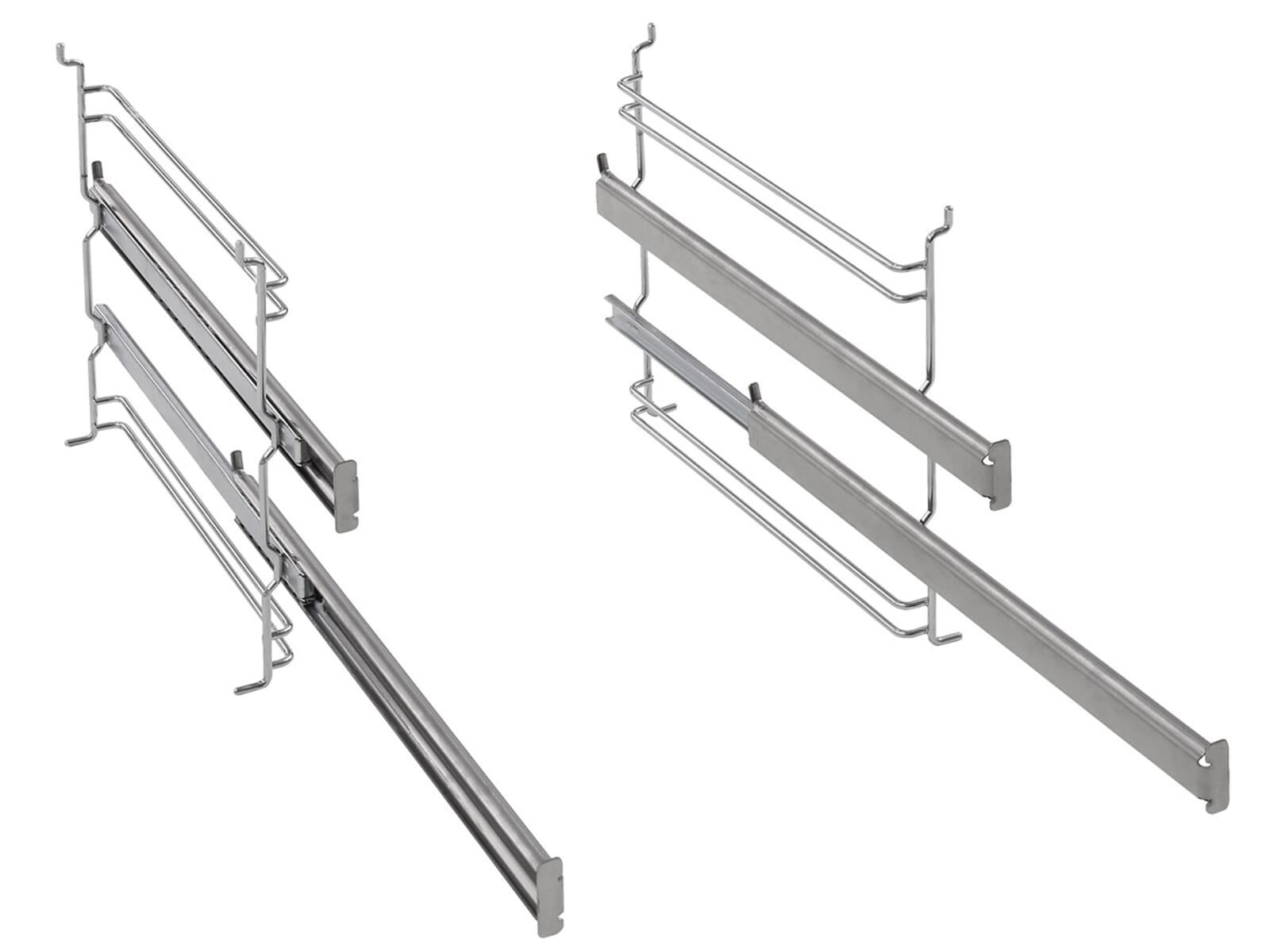 Die Teleskopauszüge eignen sich für alle aktuellen Stand- und Einbauherde bzw. Backöfen von Gorenje mit einer Breite von 60 cm.