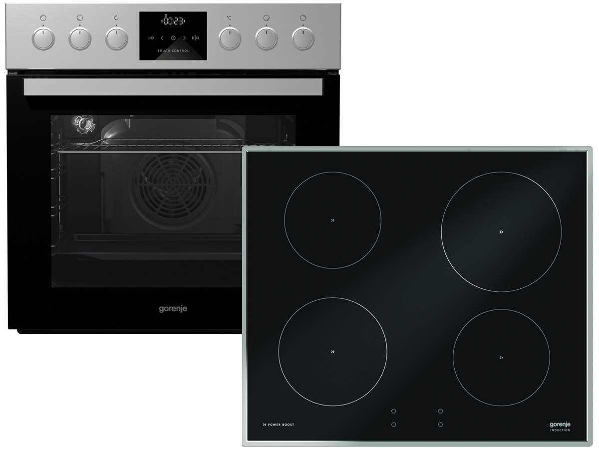 Gorenje Set Backofen BCI 635 E19X-2 + Induktion Glaskeramik Kochfeld IS 756 SC
