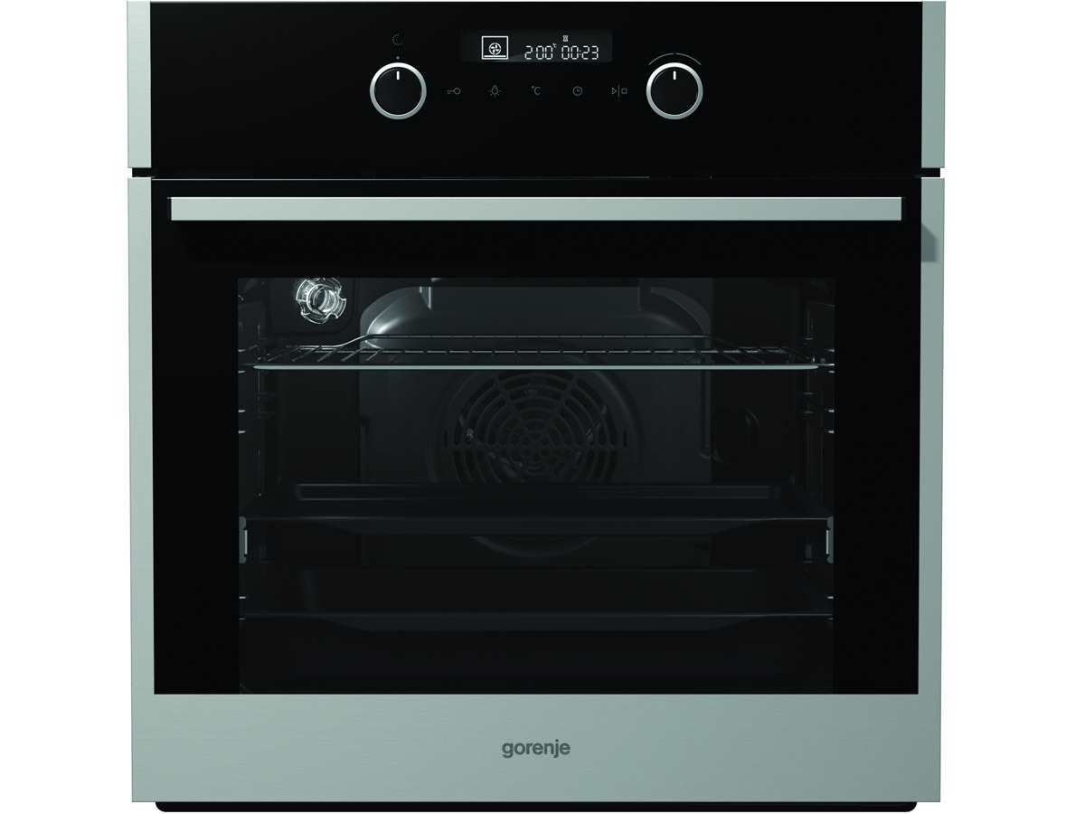 Gorenje Black Pepper Set A02 Backofen BO 647 A20XG + Induktionskochfeld IT 734 X