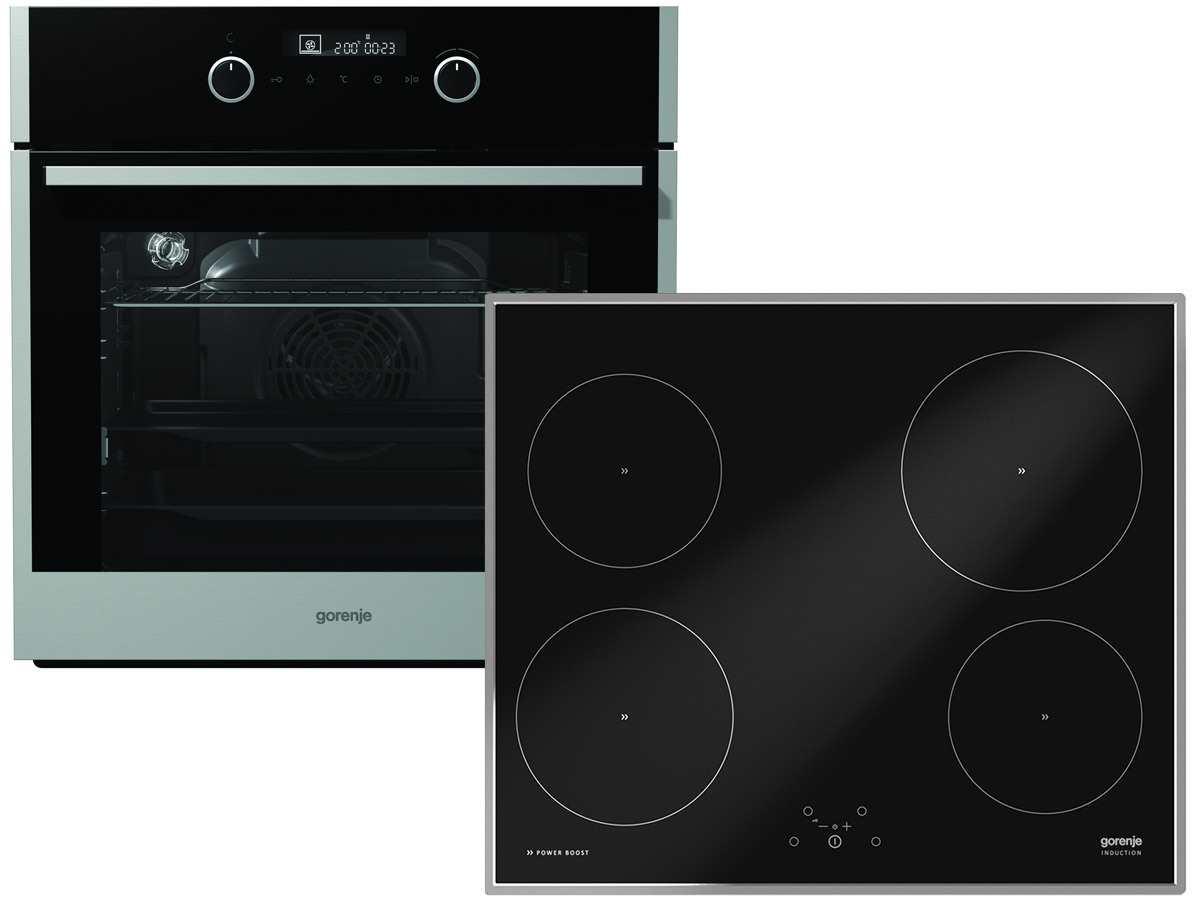 Gorenje Set Backofen BO 647 A20XG + Induktion Glaskeramik Kochfeld IT 614 X