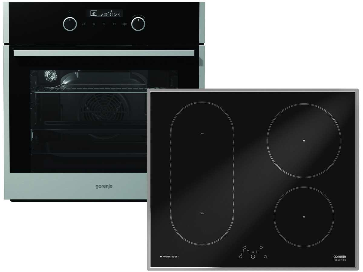 Gorenje Set Backofen BO 647 A20XG + Induktion Glaskeramik Kochfeld IT 635 X