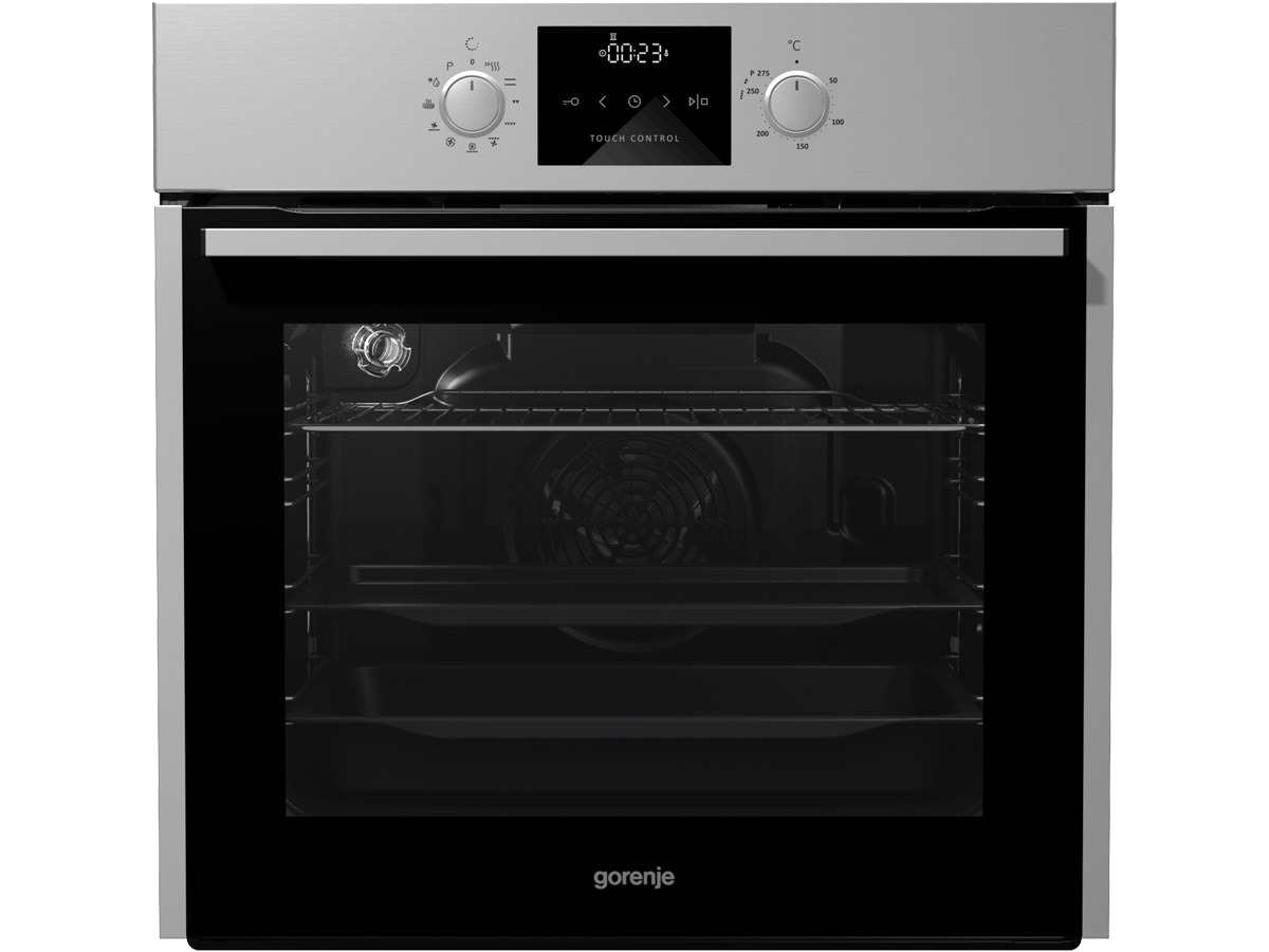 Gorenje Black Pepper Set B01 Pyrolyse Backofen BOP 637 E11X + Induktionskochfeld IS 756 USC