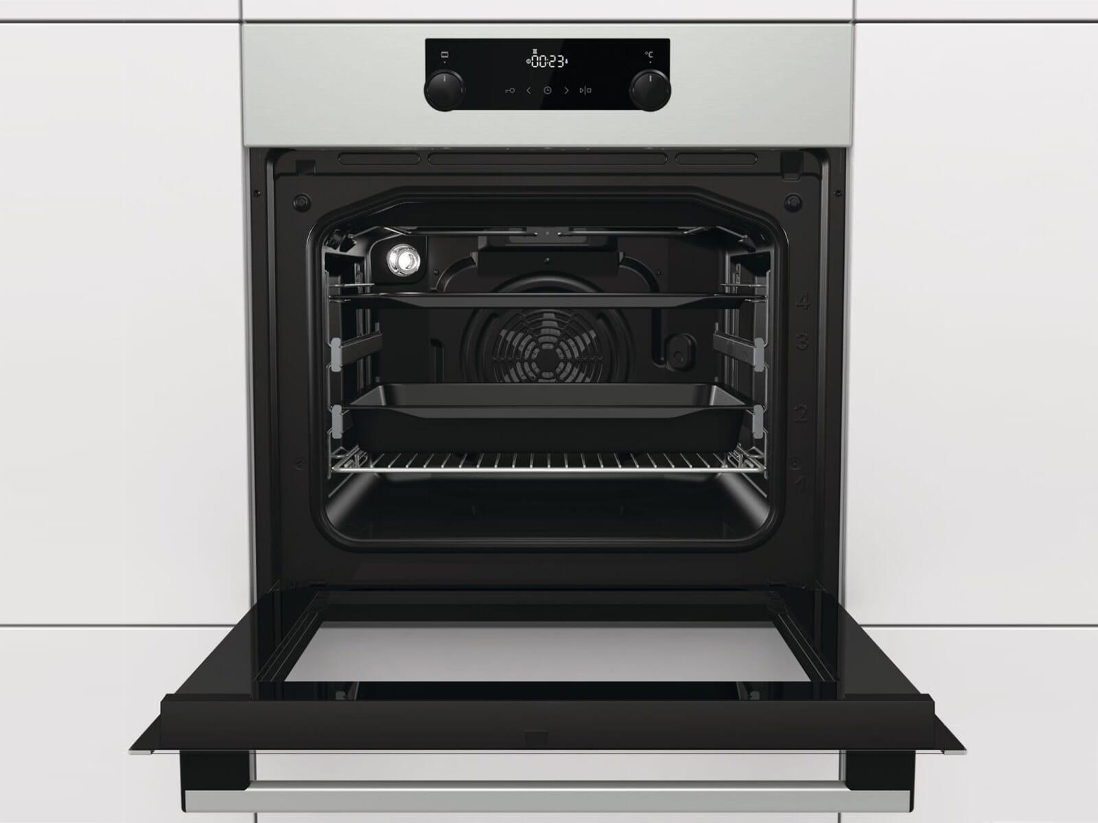 Gorenje Black Pepper Set E8S - Backofen BOS737E301X + Glaskeramikkochfeld ECT643BX autark
