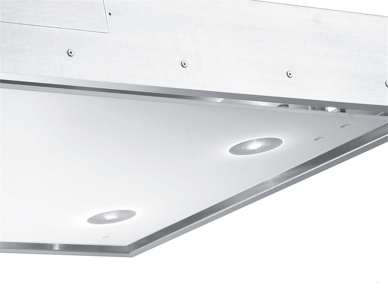 Gorenje DCG 12640 W Deckenhaube Edelstahl/Glas Weiß